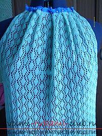 Ажурное платье из акриловой пряжи. Фото №5