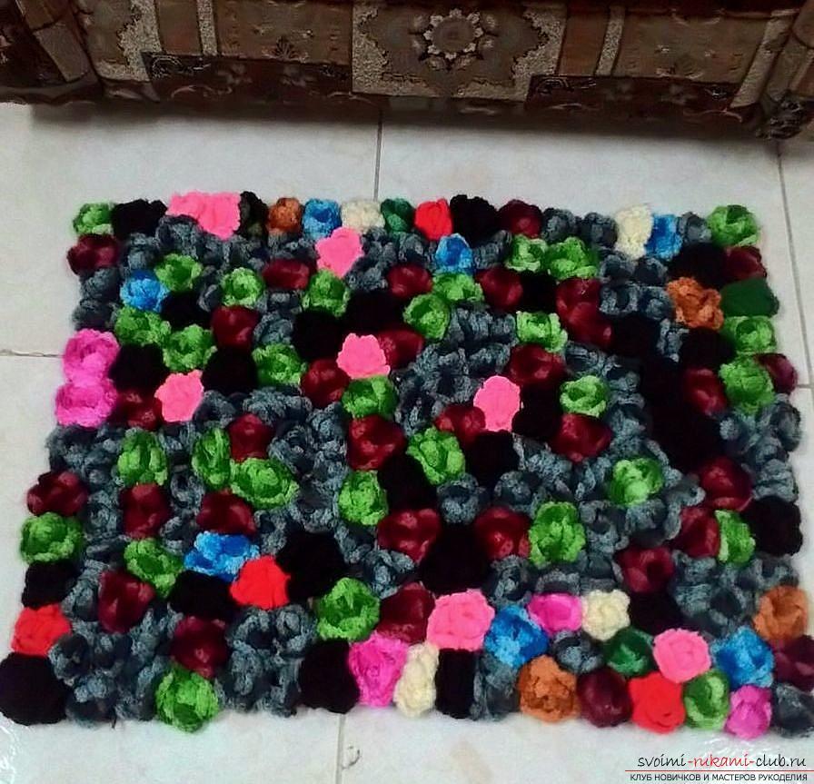 Фото объемных цветов крючком 7