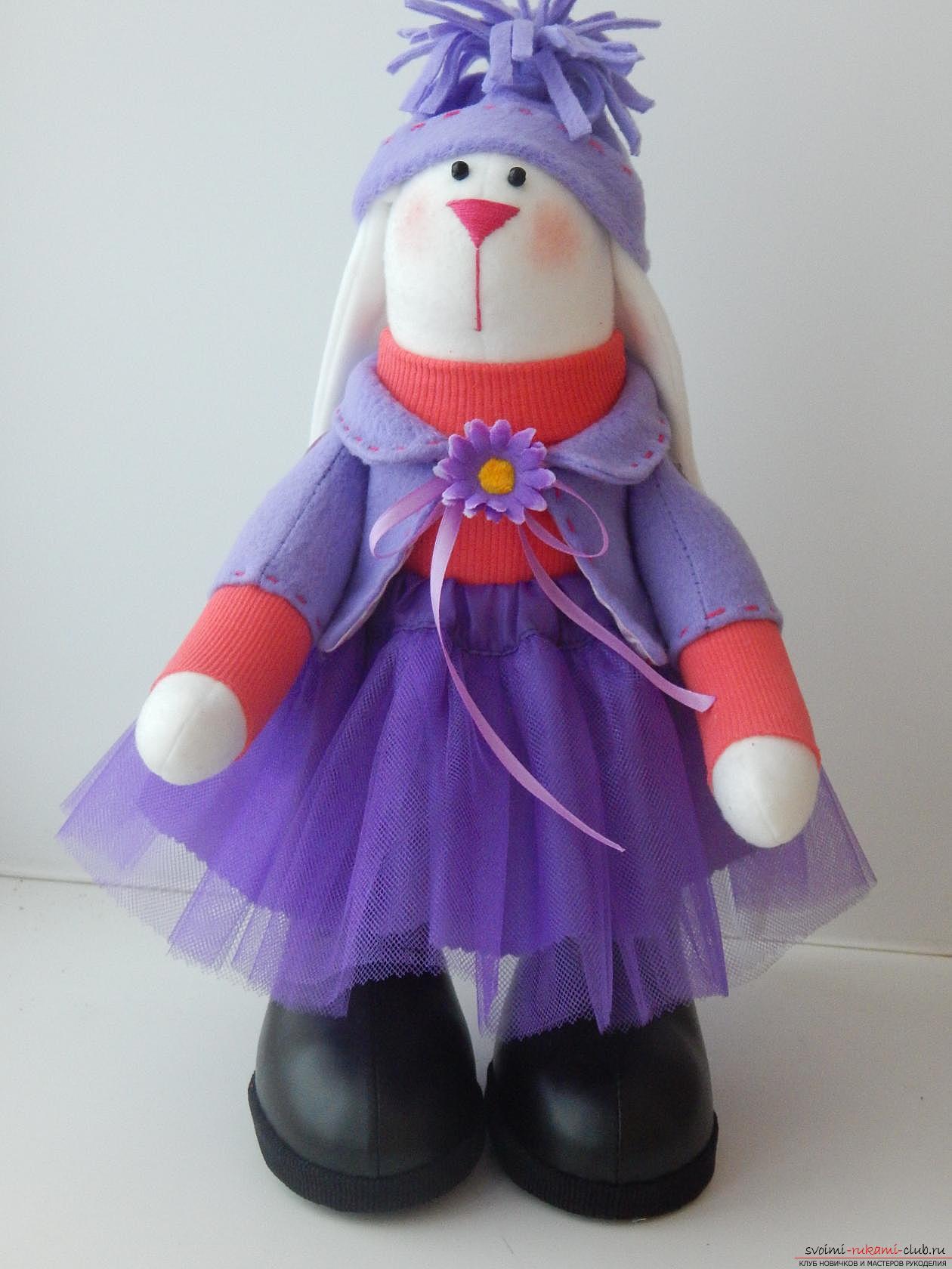 Текстильная кукла Зайка. Фото №1