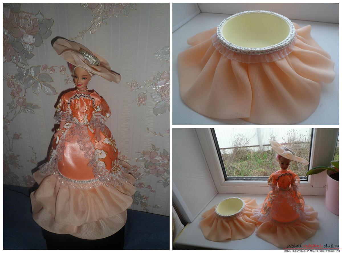 Кукла из пластиковой бутылки, шкатулка 17