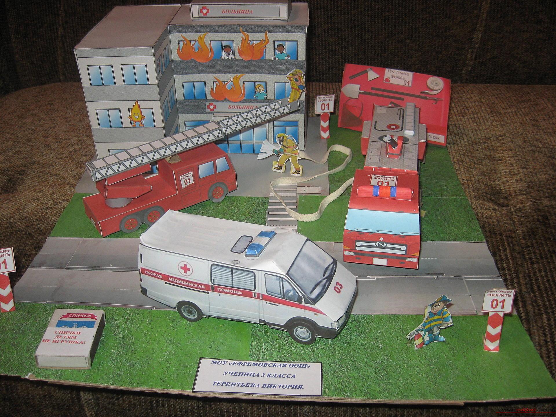 Макеты и поделки по пожарной безопасности фото