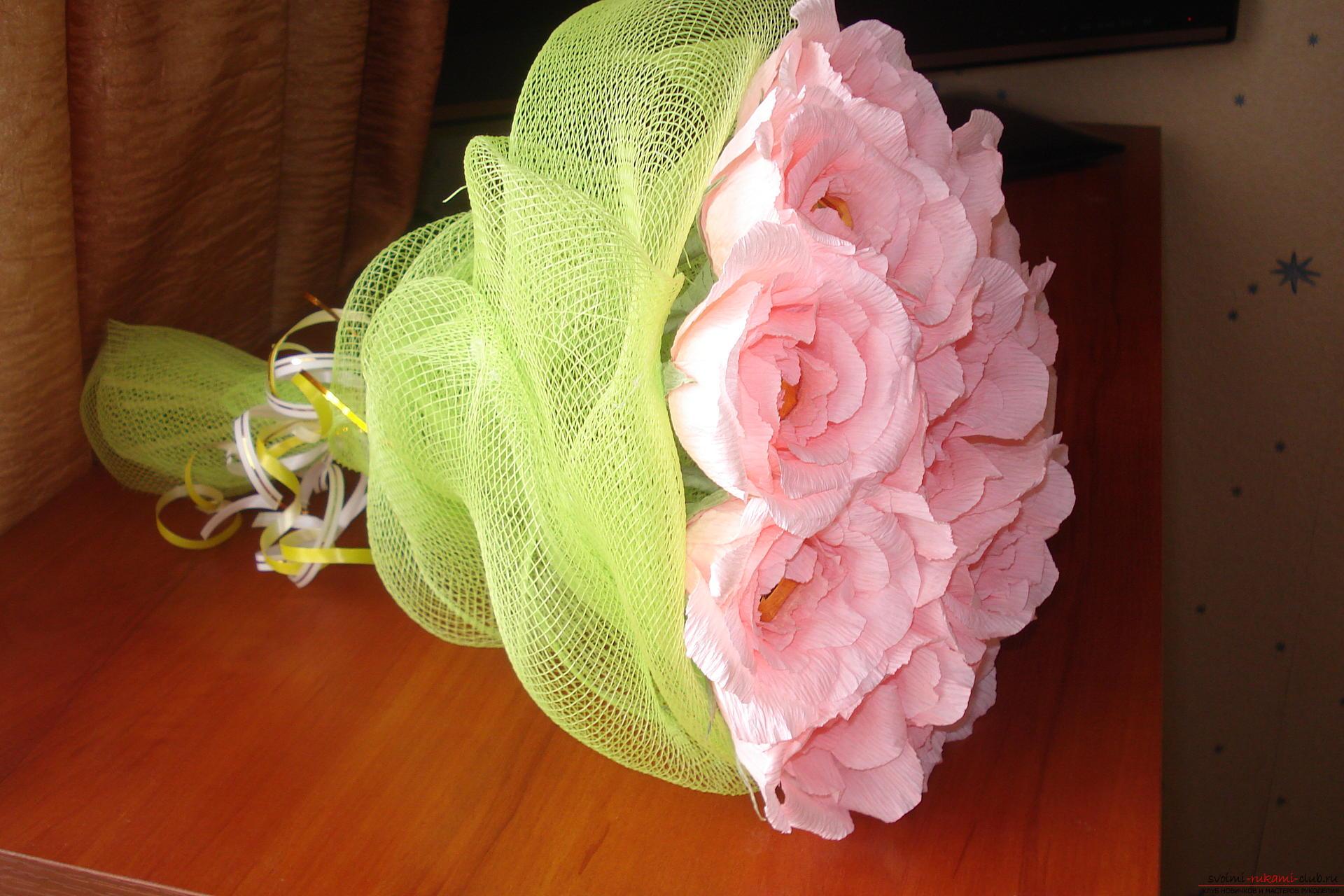 Как сделать букет из конфет розы пошаговое фото