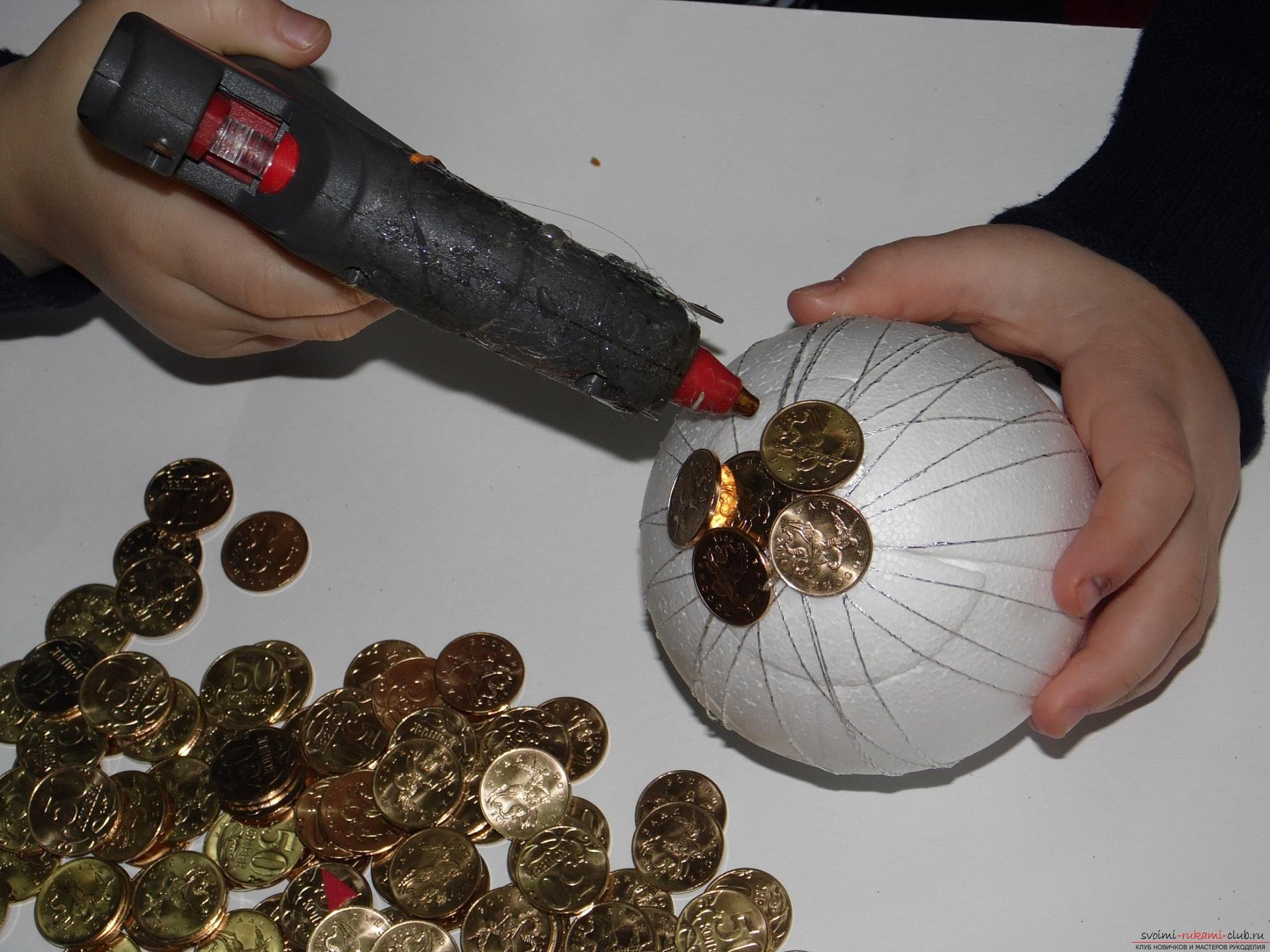 Как сделать денежное яблоко 4