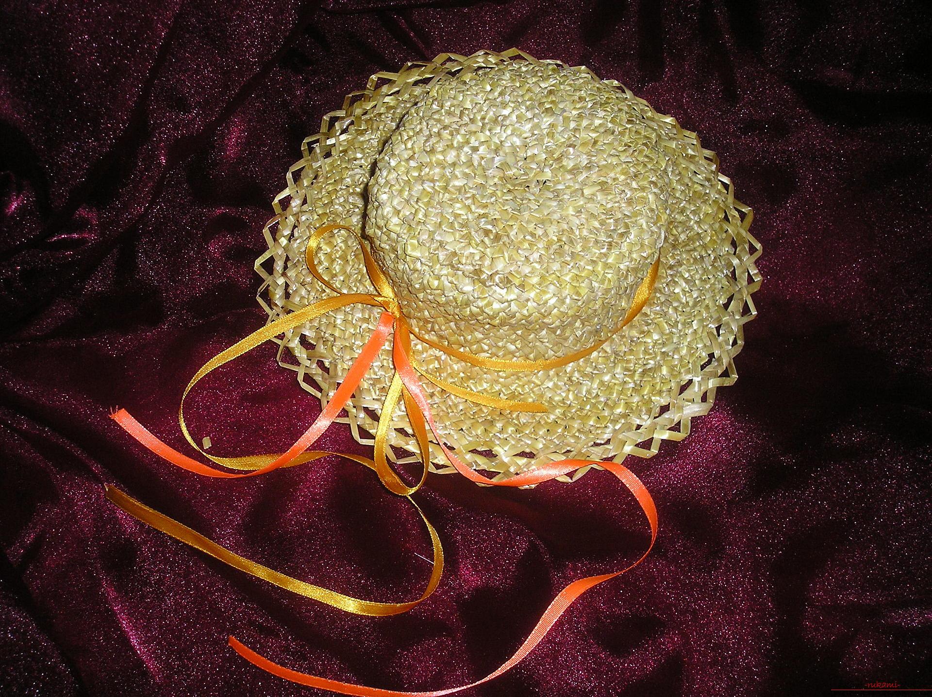 Мастер-класс по изготовлению соломенной шляпки от и до. Фото №1