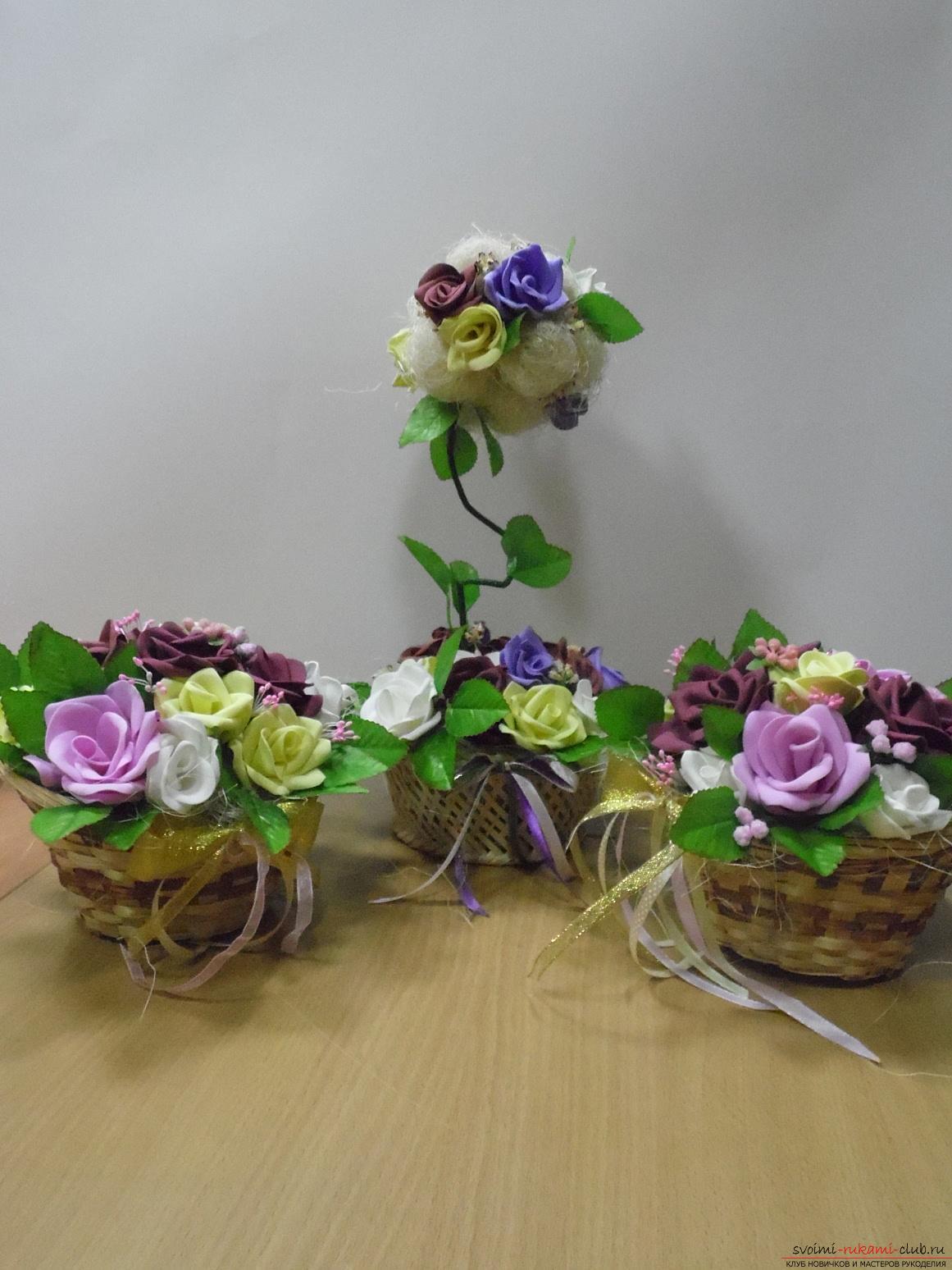 мастер класс цветов из фоамирана фото
