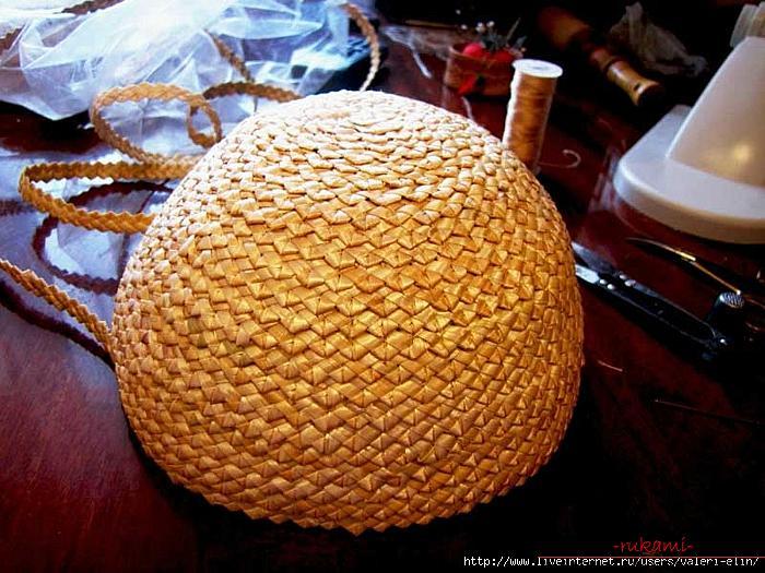 Мастер-класс по изготовлению соломенной шляпки от и до. Фото №3