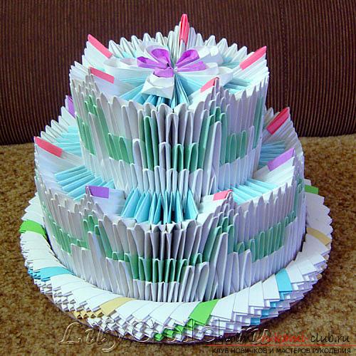 Модульные оригами торт схема 60