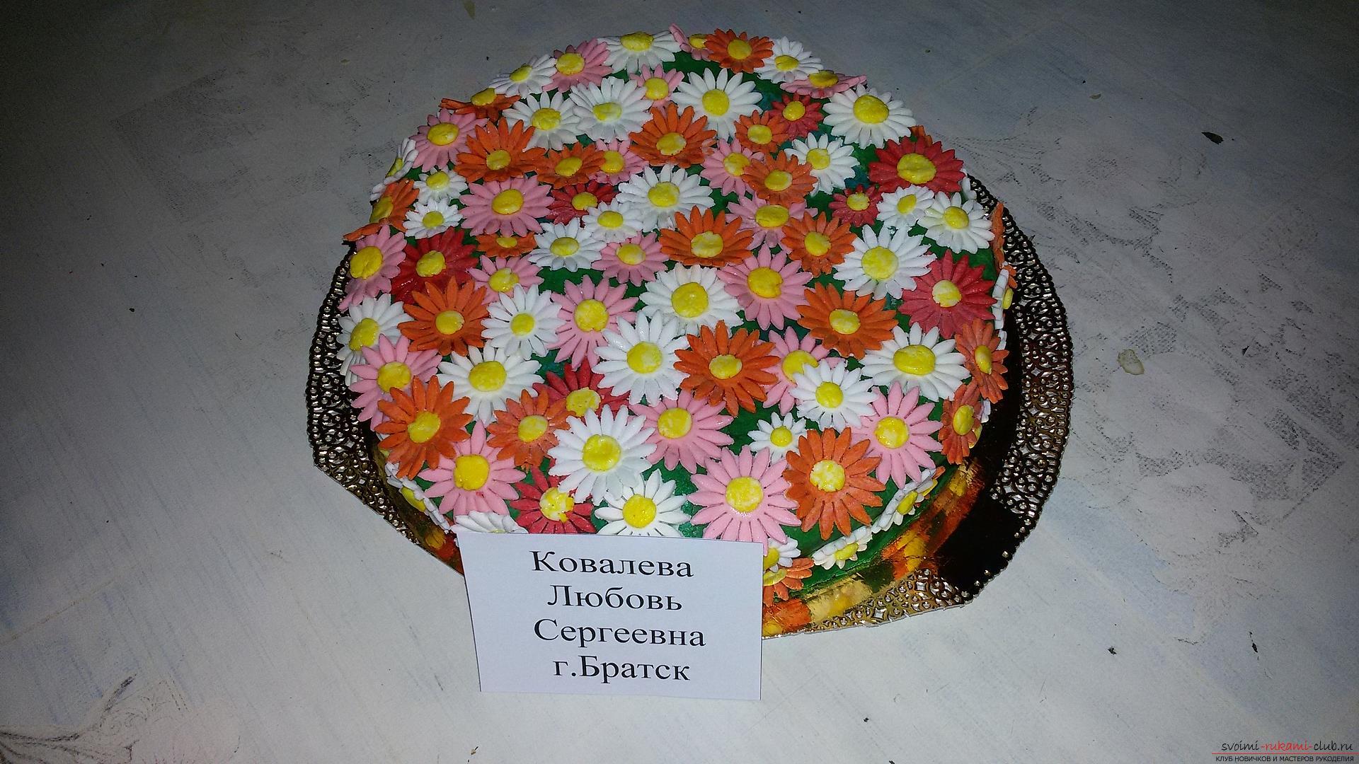 Cakes. Торт из цветов. Торты из цветов. Подарок 65