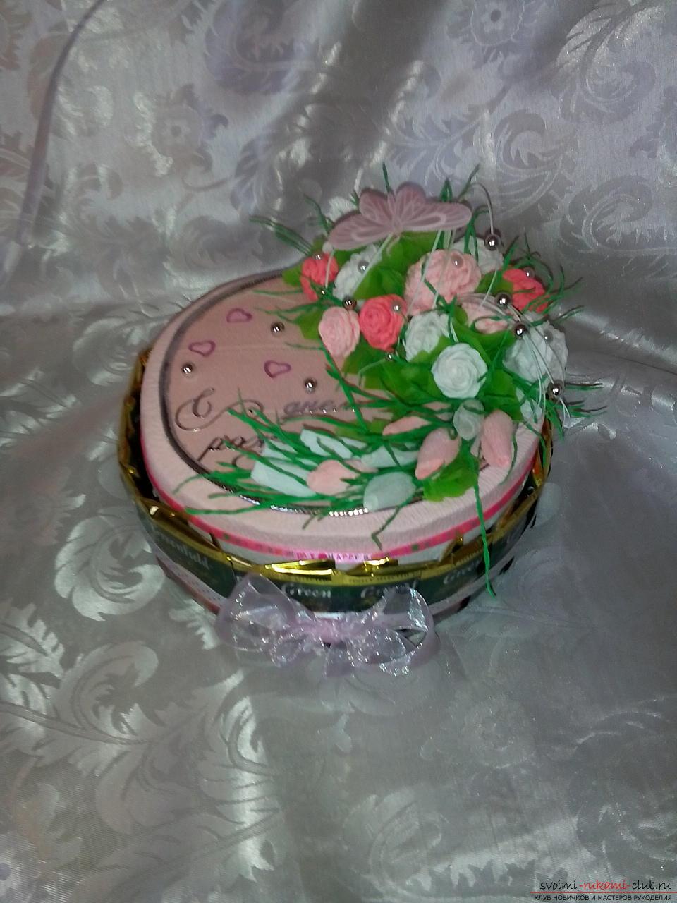 Шкатулки из конфет своими руками пошаговое фото