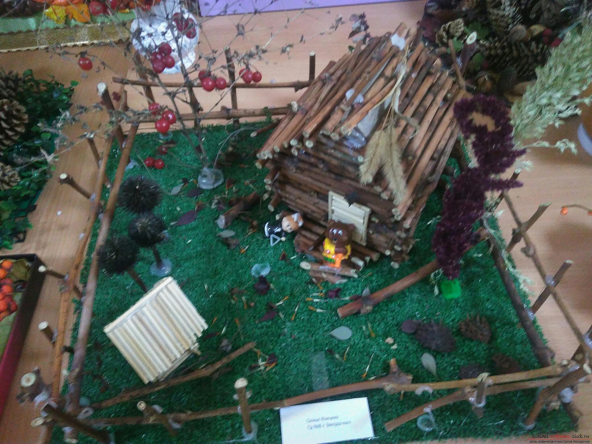Сказочный дом Бабы Яги из веточек на Конкурс с Леонардо, поделки из дерева своими руками