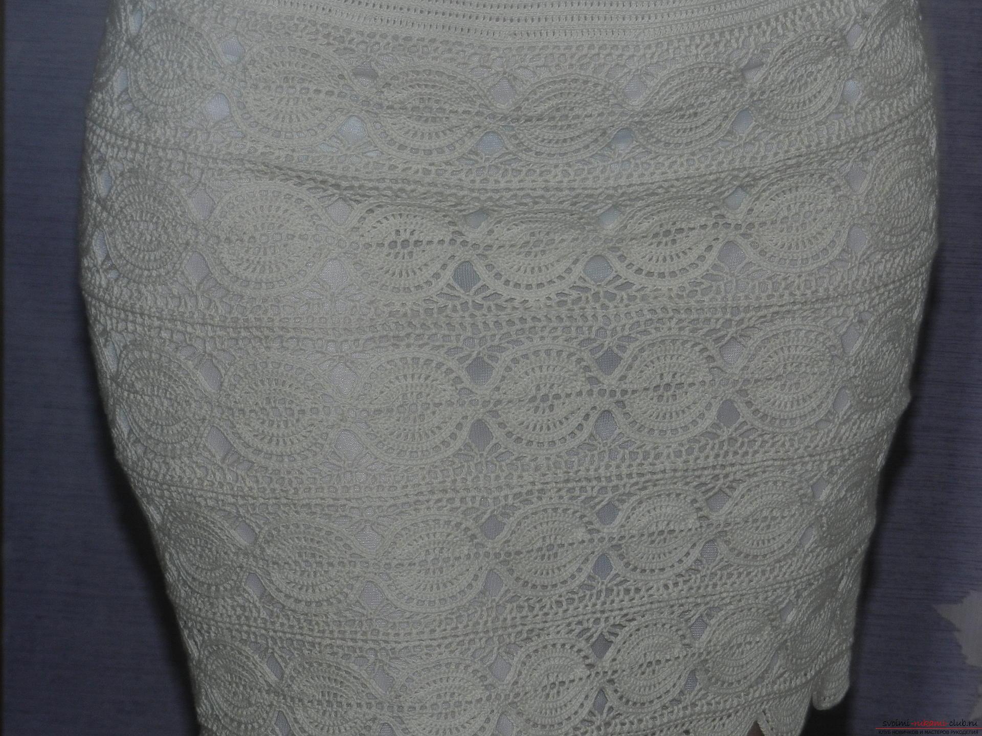 Вязаные юбки крючком короткие