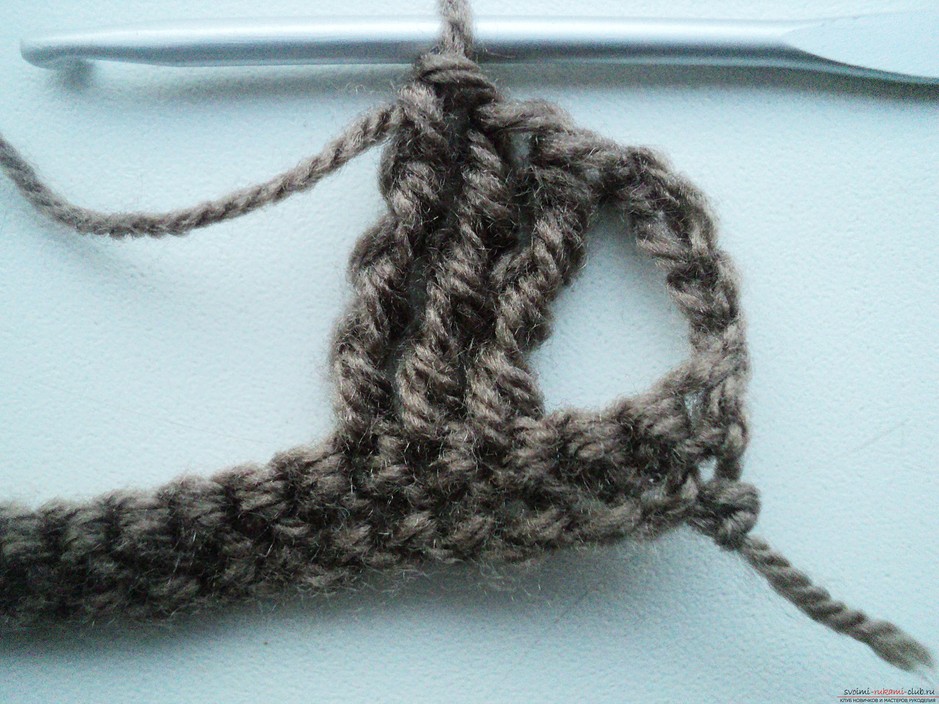 Вязание шарфов крючком для начинающих пошагово фото
