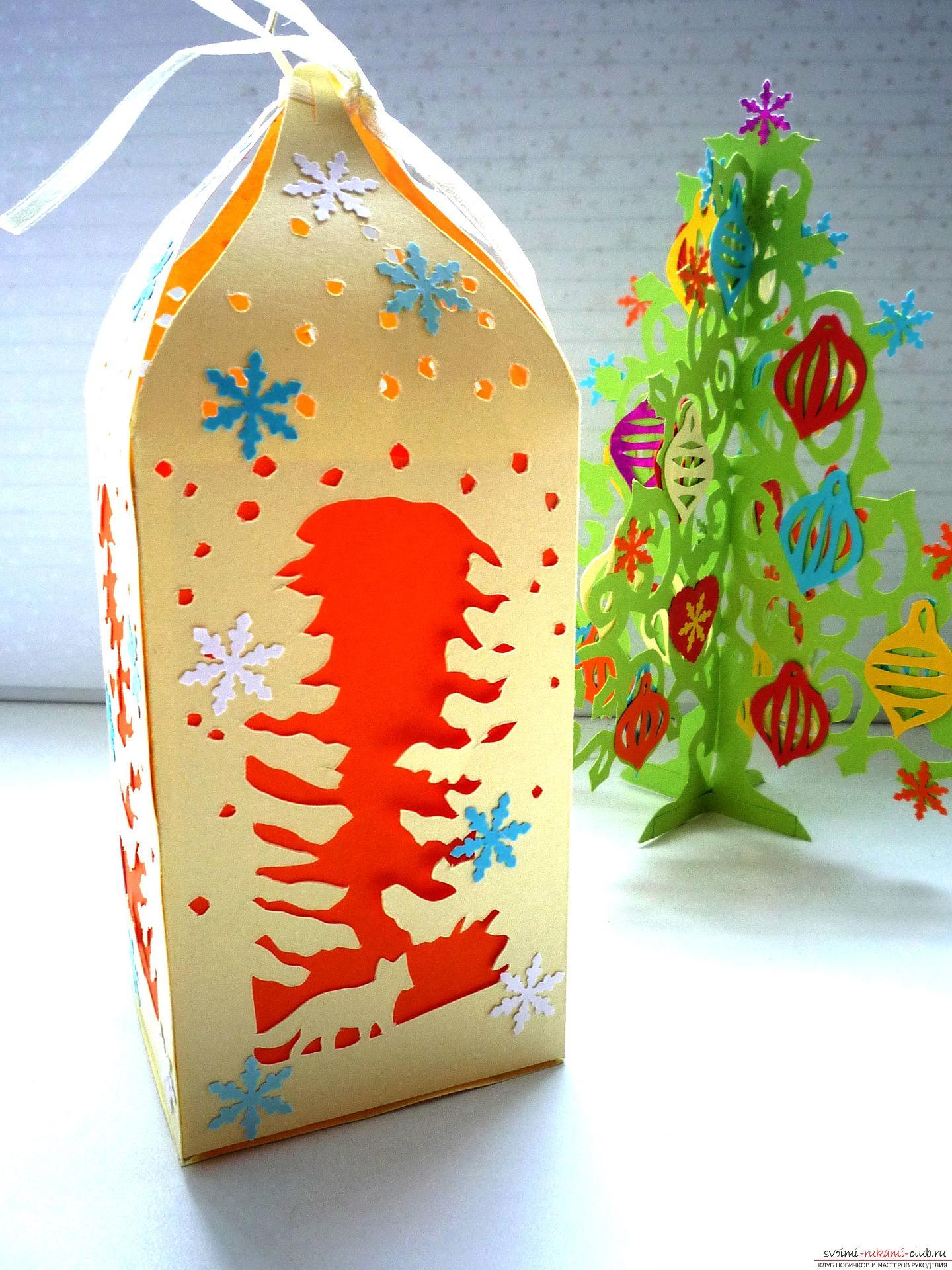 Мастер-класс научит как сделать новогоднюю поделку - коробку для сладкого подарка