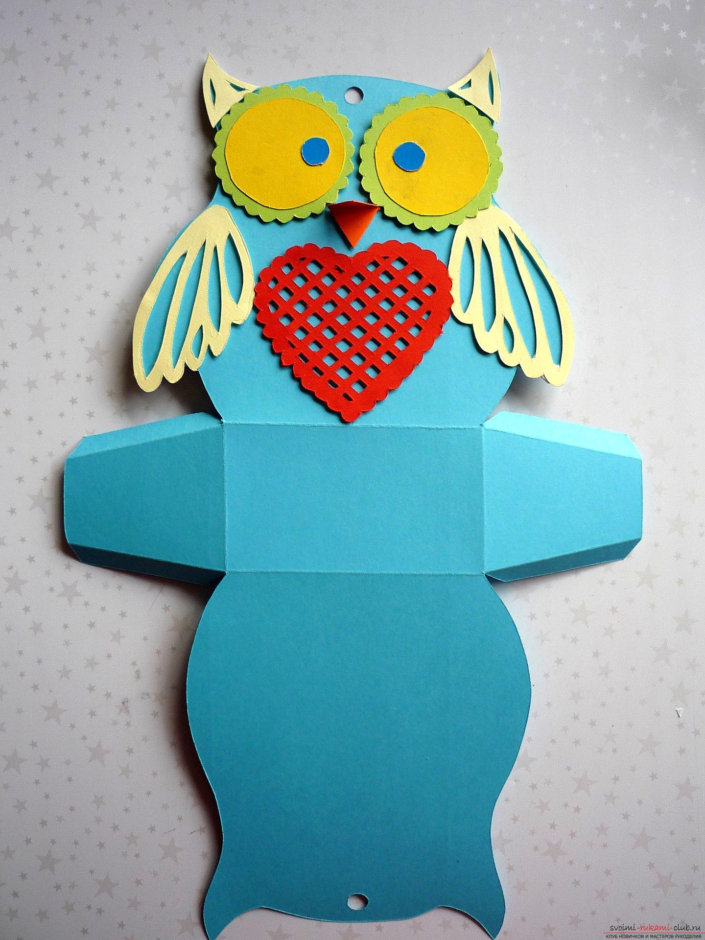 Поделка сова из цветной бумаги шаблон 3 класс