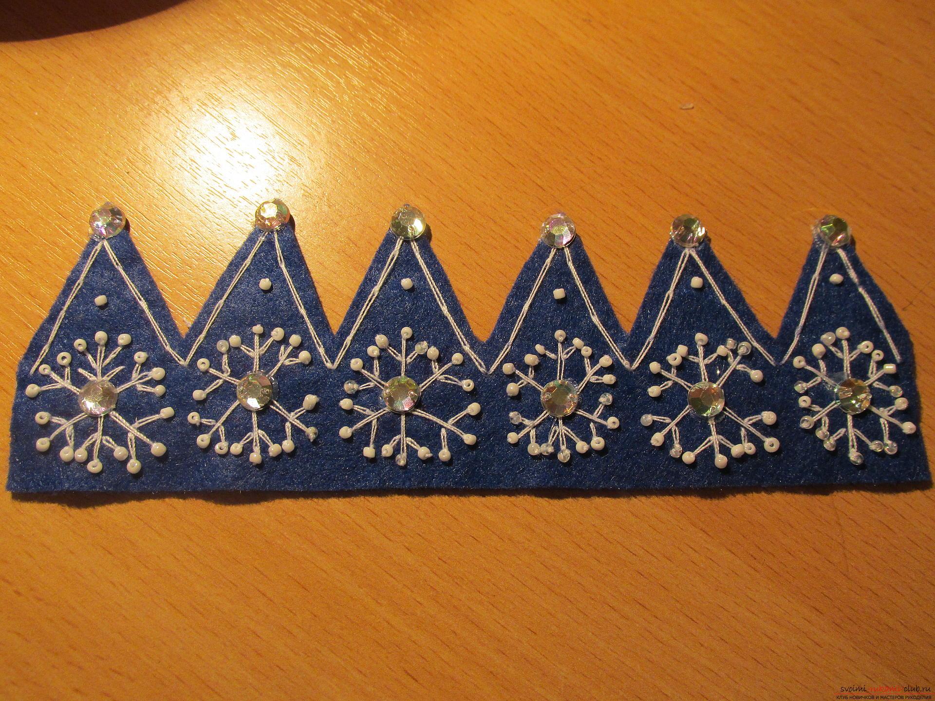 Короны для девочек из фетра своими руками 84