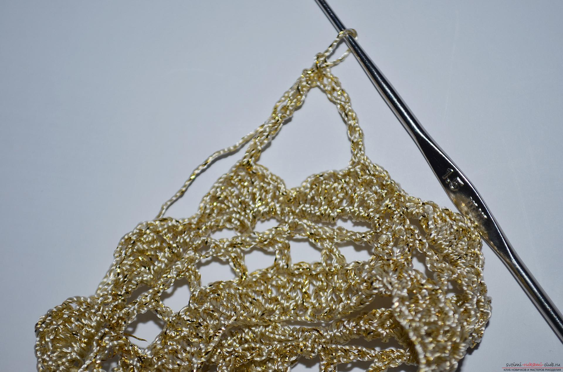 Пошаговый мастер-класс научит как связать крючком вязаную корону для девочки. Фото №6