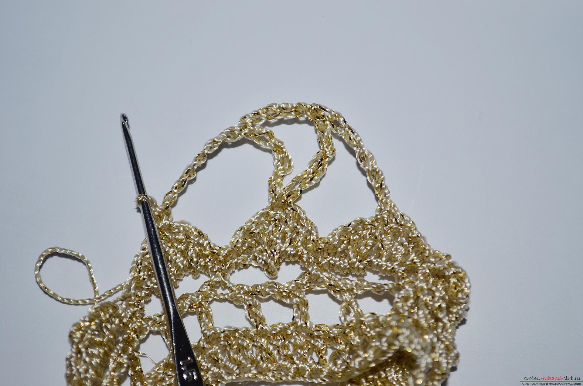 Пошаговый мастер-класс научит как связать крючком вязаную корону для девочки. Фото №8