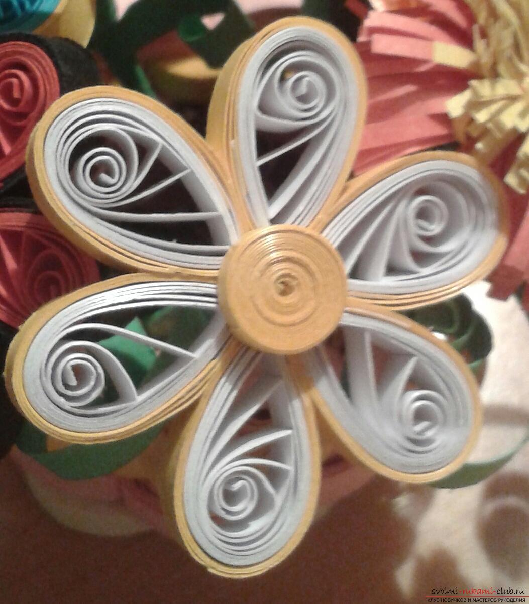 Букет цветов квиллинг своими руками 291