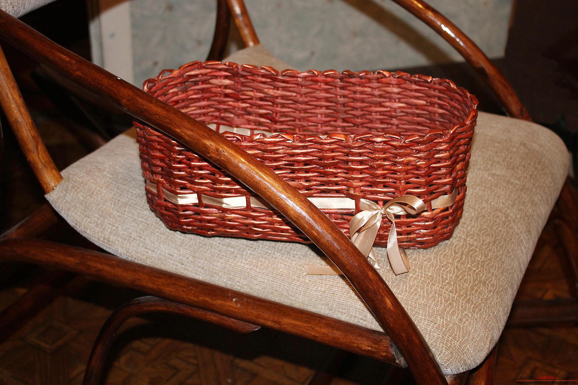 Плетеная корзинка мастер класс