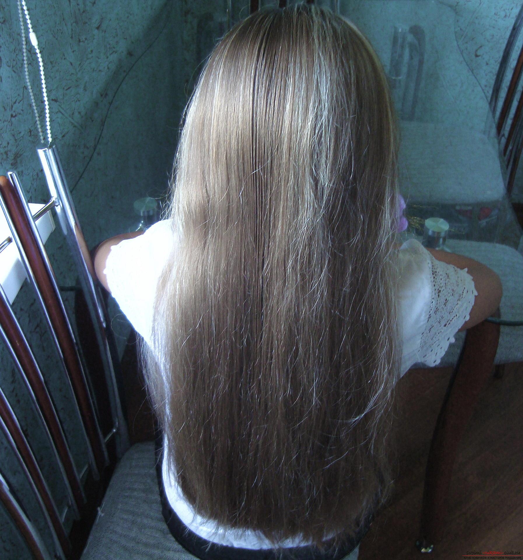 Урок по плетению косы на длинные волосы для девочки в школу. Фото №2