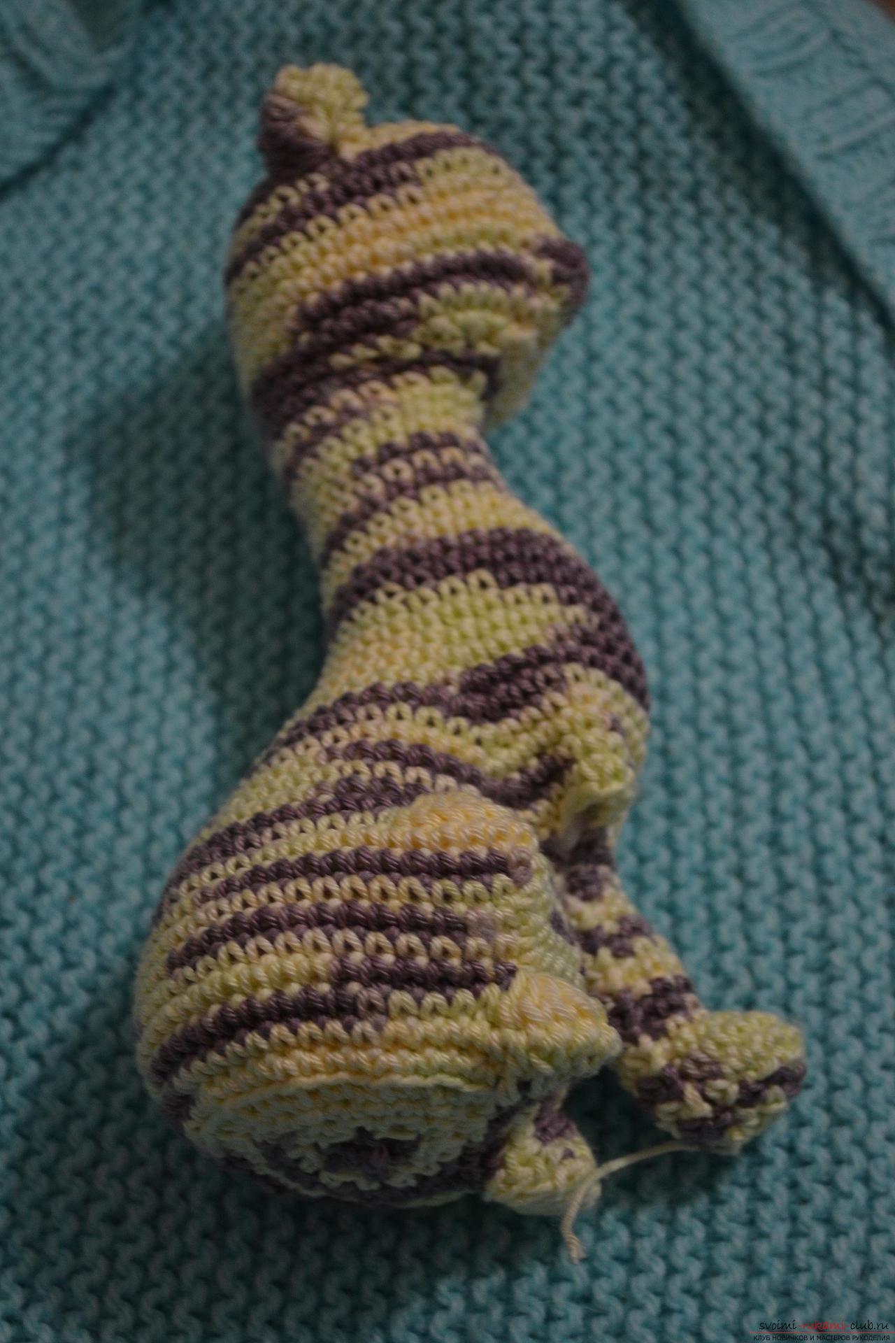 Этот мастер-класс вязания крючком с фото и схемой научит как связать красивую кошку.. Фото №25