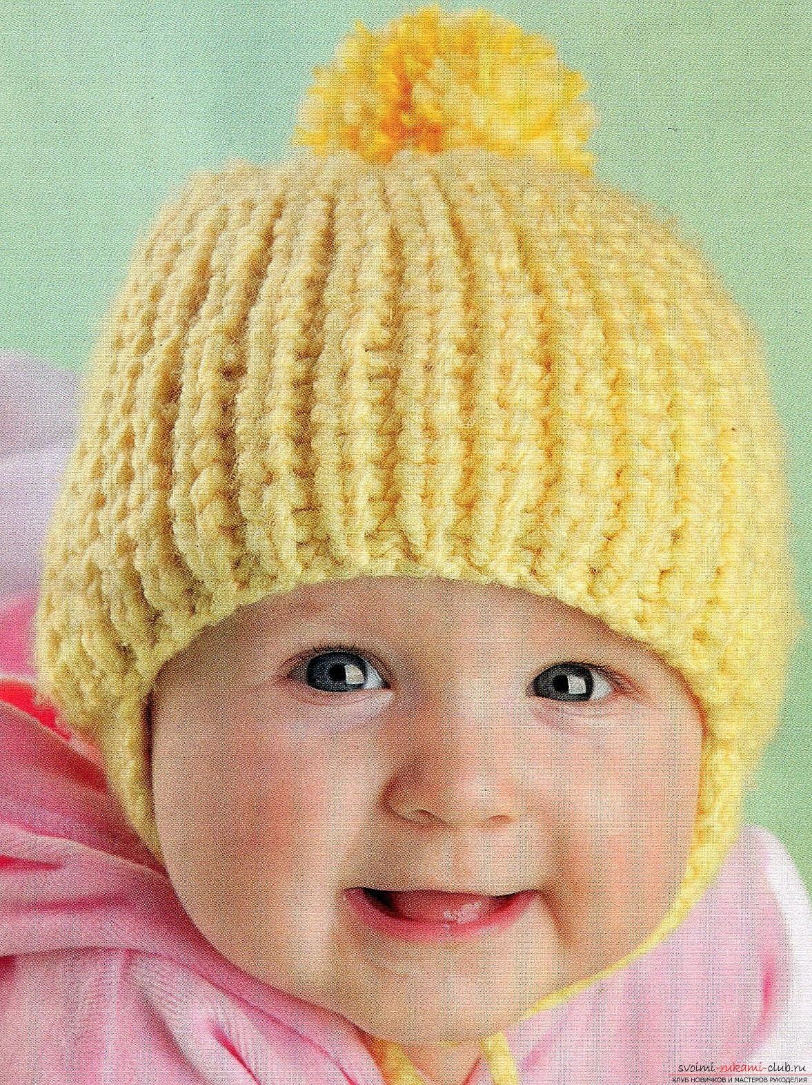 схемы вязания шапек для мальчиковспицами