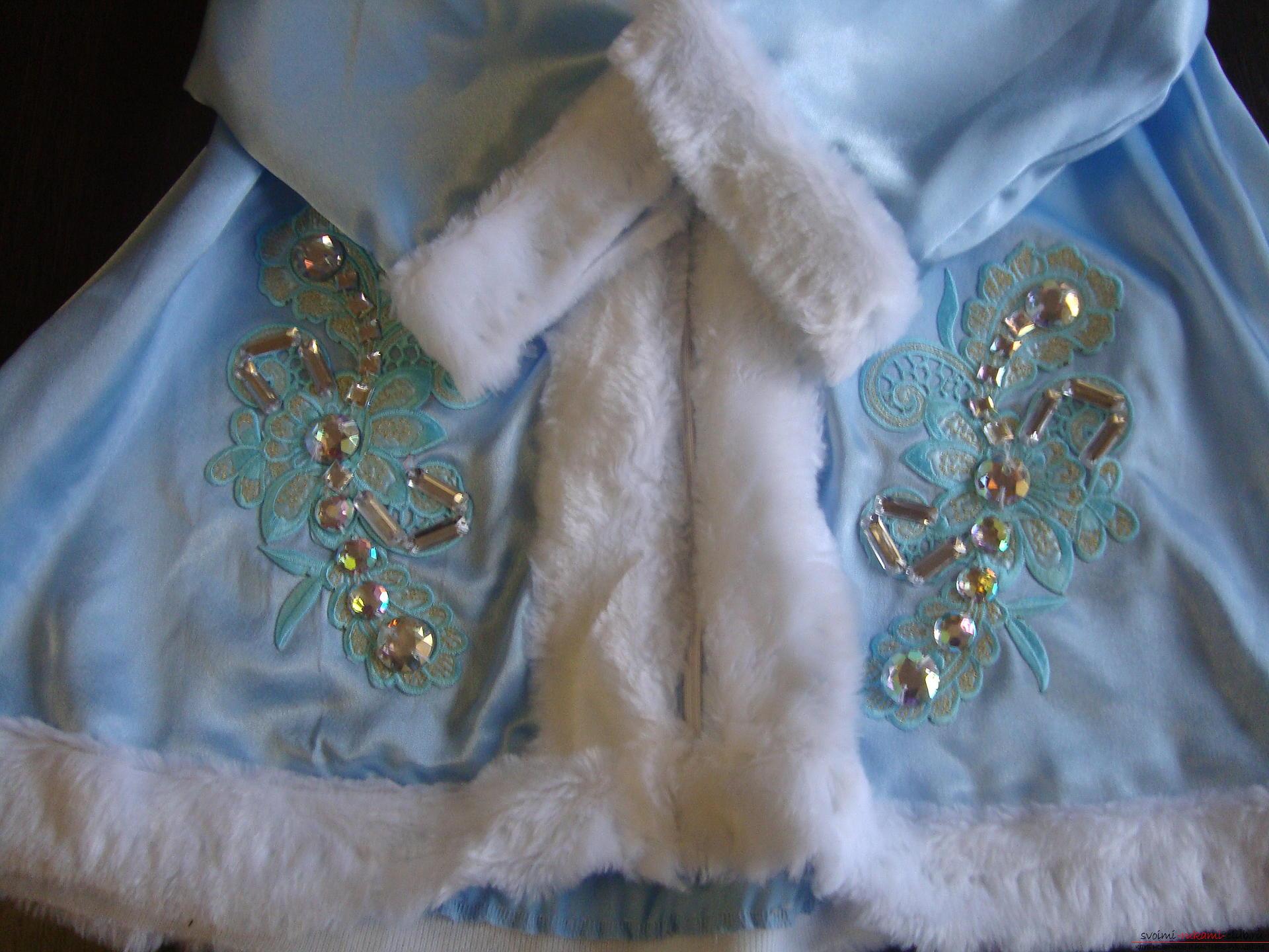 Карнавальные костюмы для девочки мама может сшить своими руками. Костюм Снегурочка понравится многим девочкам.. Фото №7