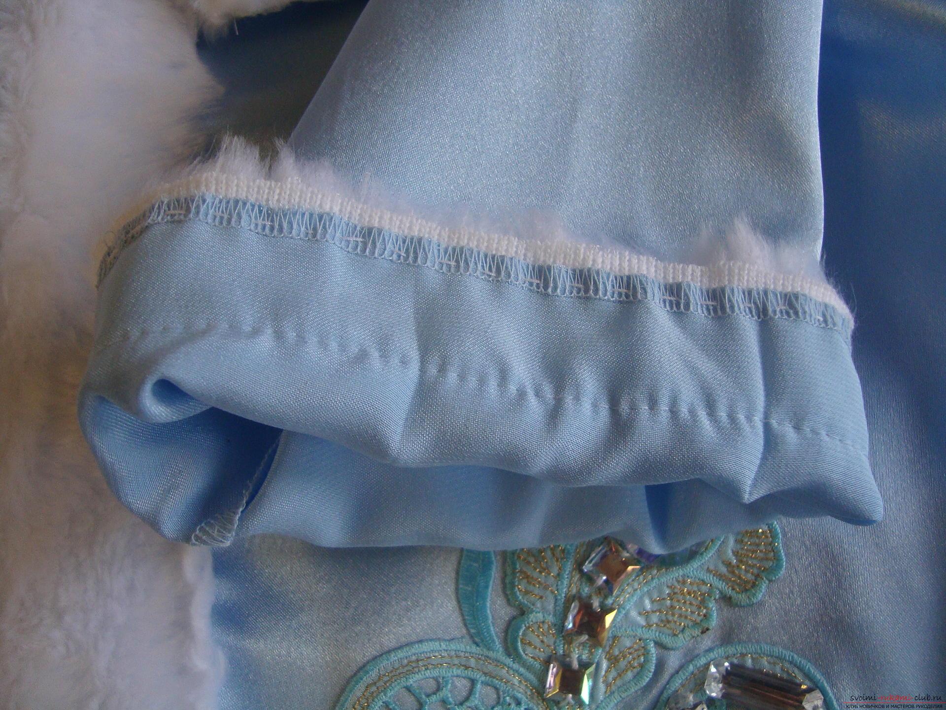 Карнавальные костюмы для девочки мама может сшить своими руками. Костюм Снегурочка понравится многим девочкам.. Фото №9