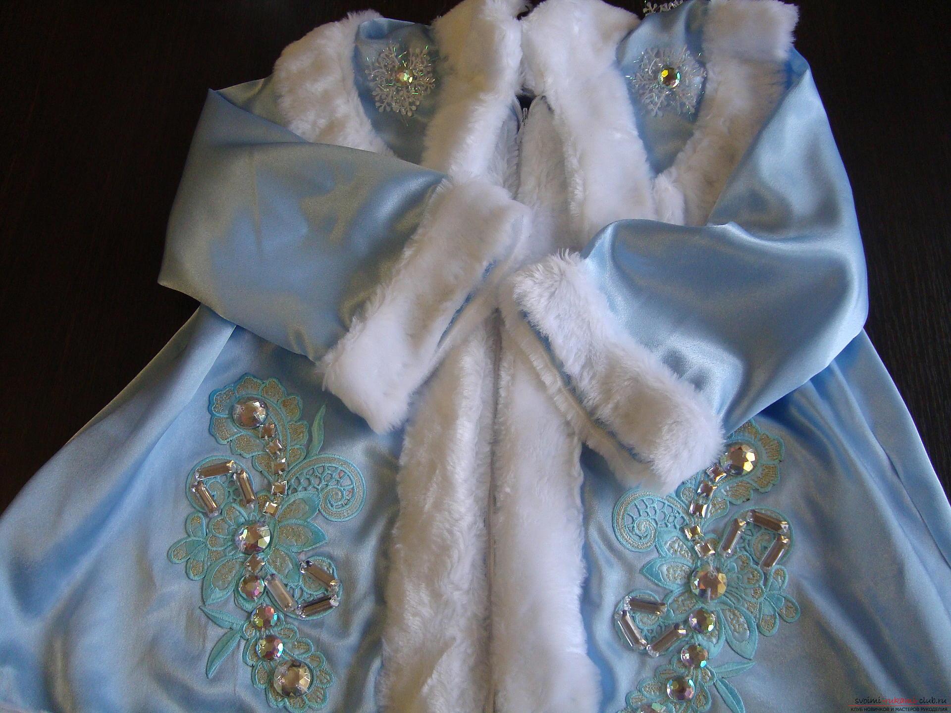 Карнавальные костюмы для девочки мама может сшить своими руками. Костюм Снегурочка понравится многим девочкам.. Фото №3