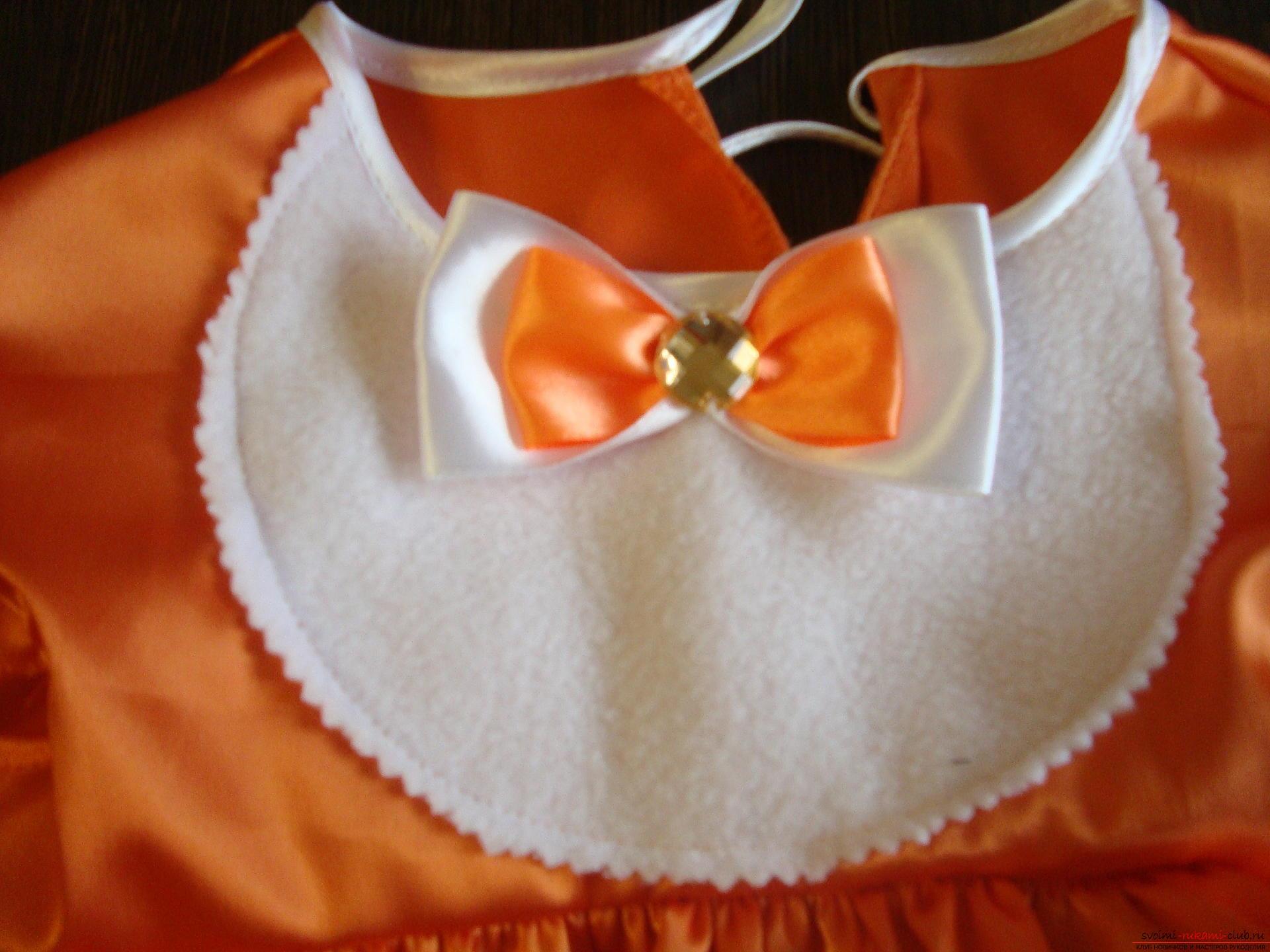 Этот мастер-класс научит как сшить своими руками детский карнавальный костюм лисы для девочки. Фото №14