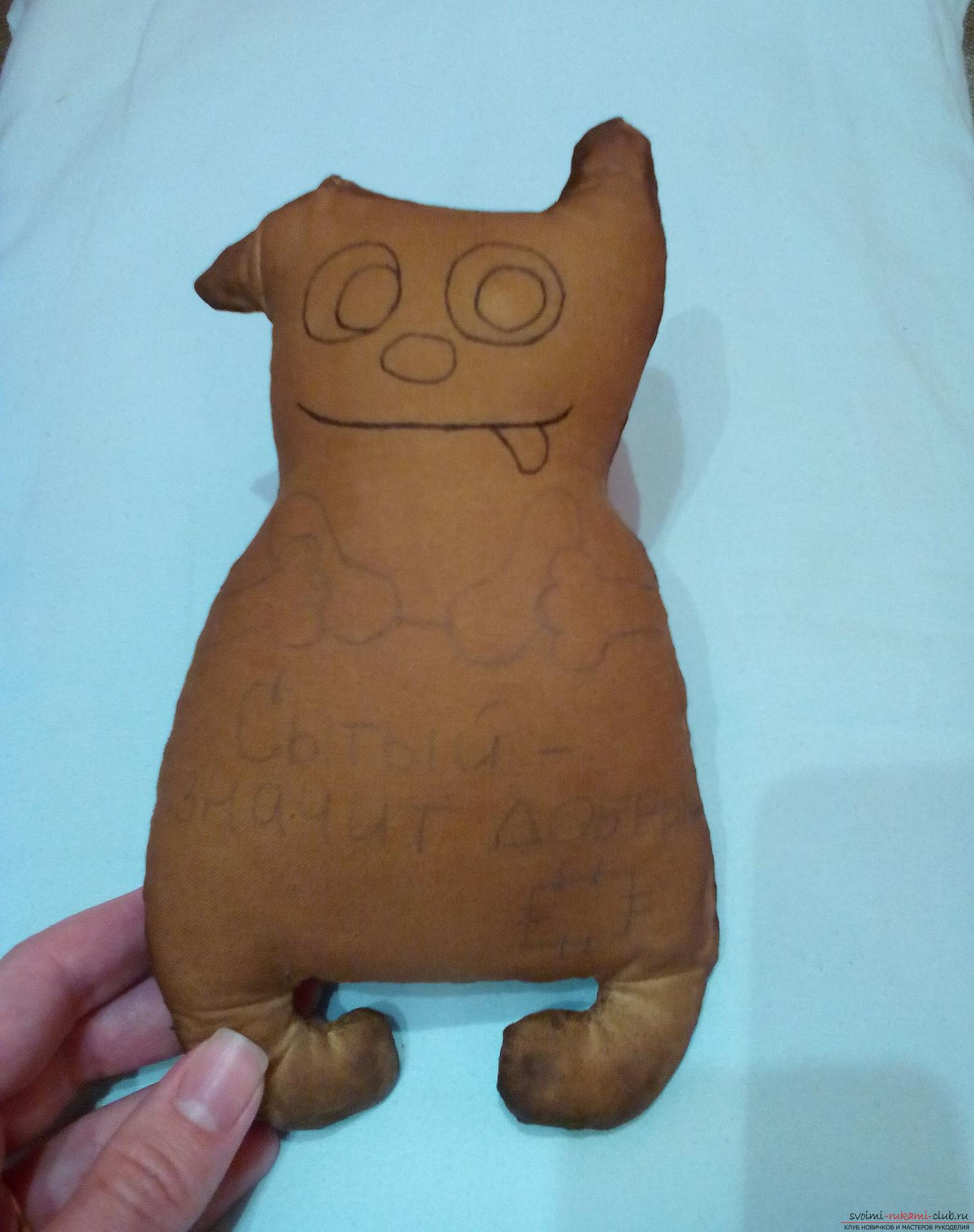 Этот мастер-класс содержит выкройку игрушки-примитива - мягкого кота Лакомки.. Фото №18