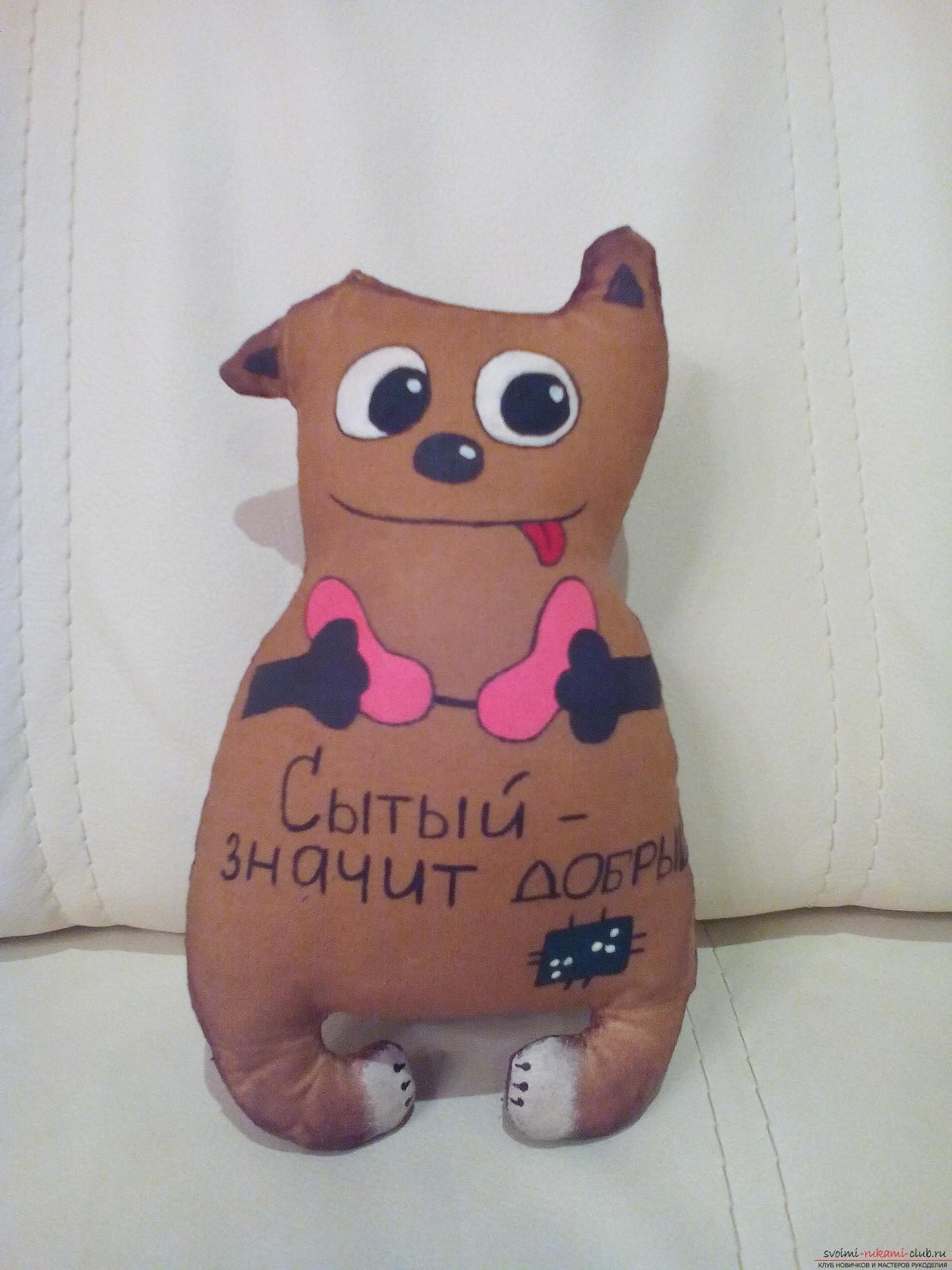 Этот мастер-класс содержит выкройку игрушки-примитива - мягкого кота Лакомки.. Фото №1