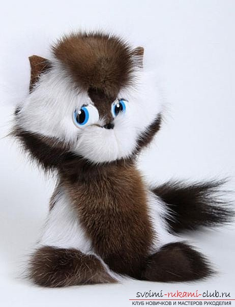 Как сшить оригинальную игрушку в форме кота