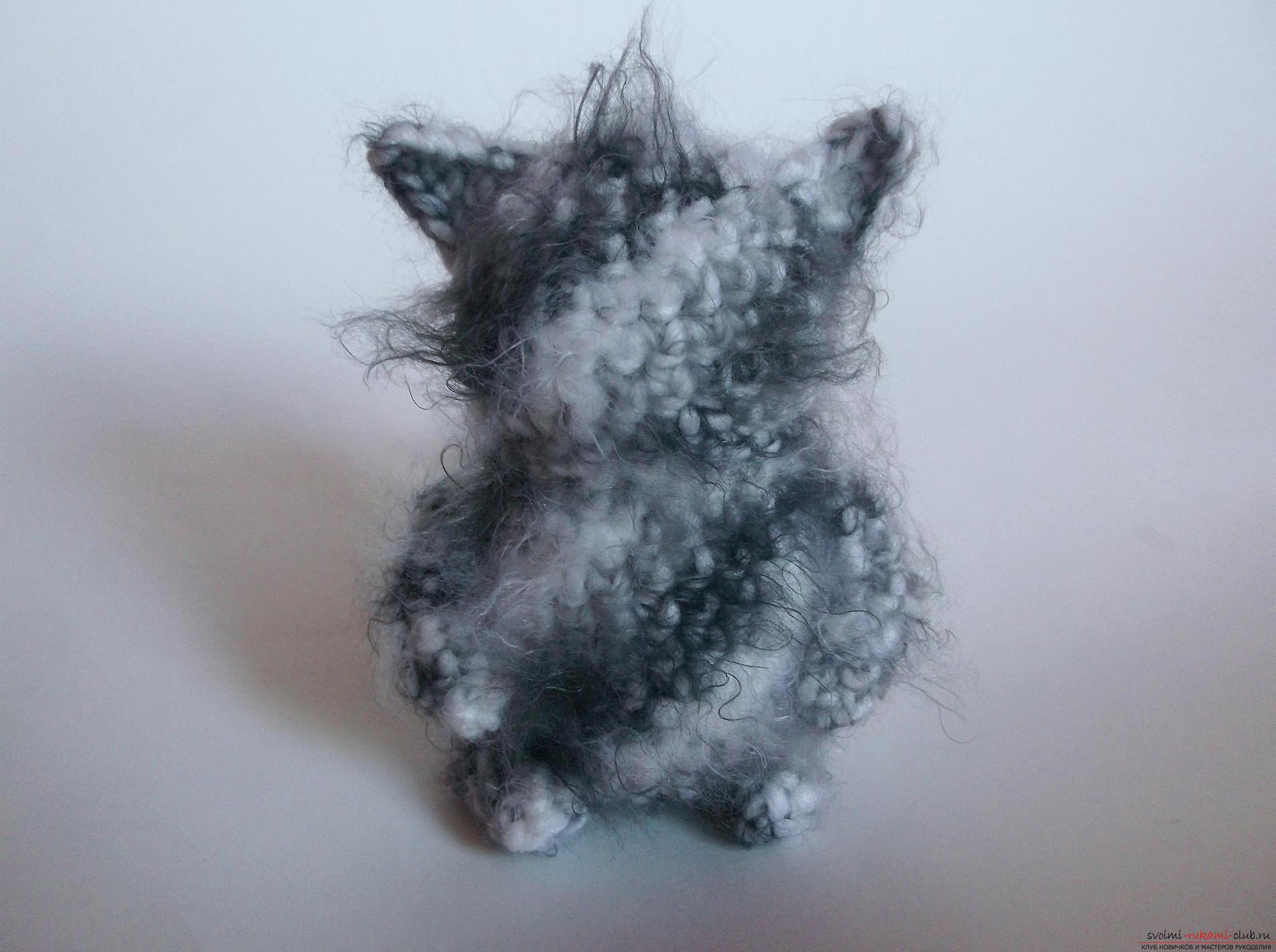 Фото к уроку по вязанию крючком котика. Фото №11