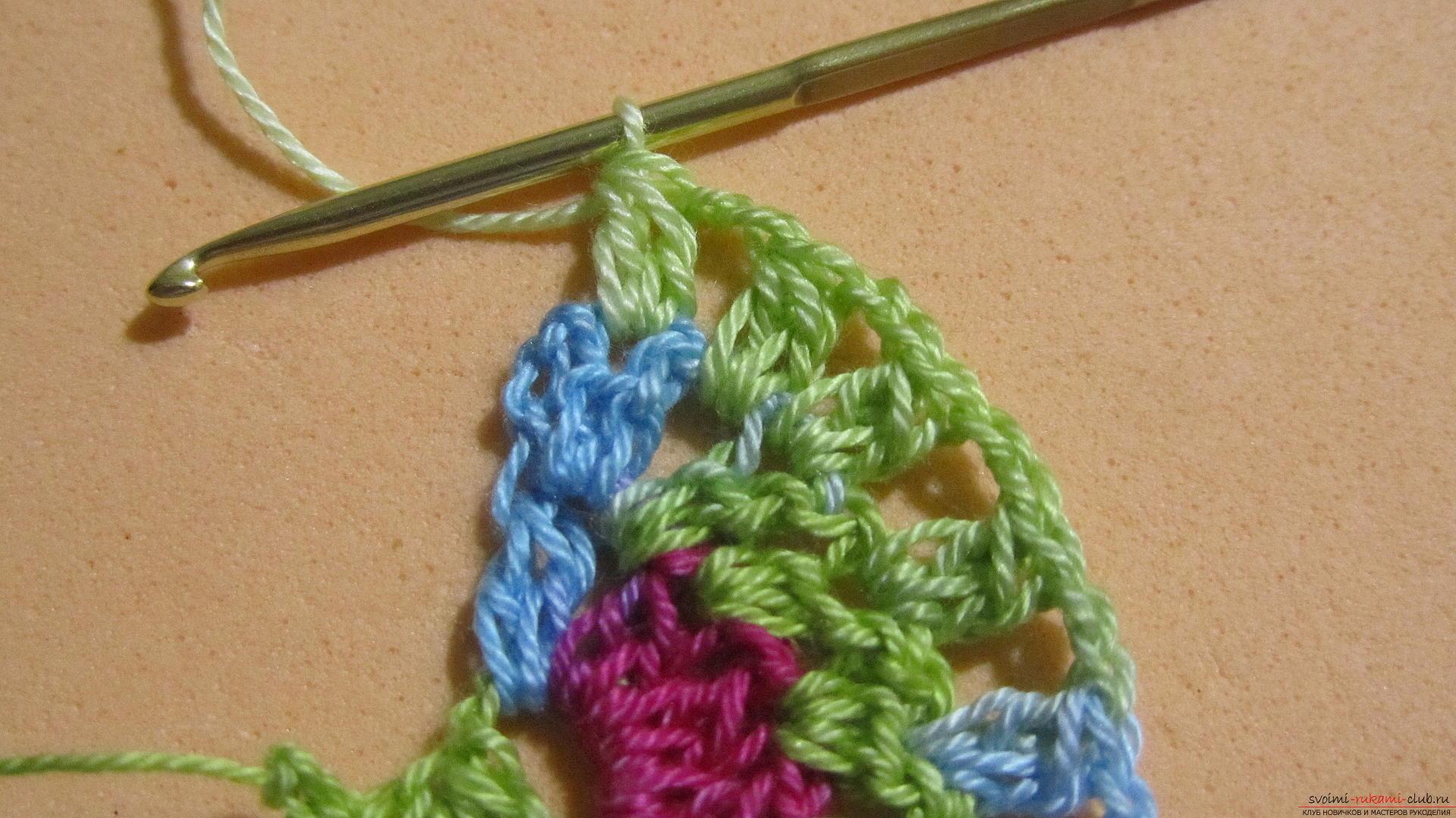 Этот мастер-класс со схемой и описанием вязания крючком научит вязать кружево с сердечками.. Фото №24