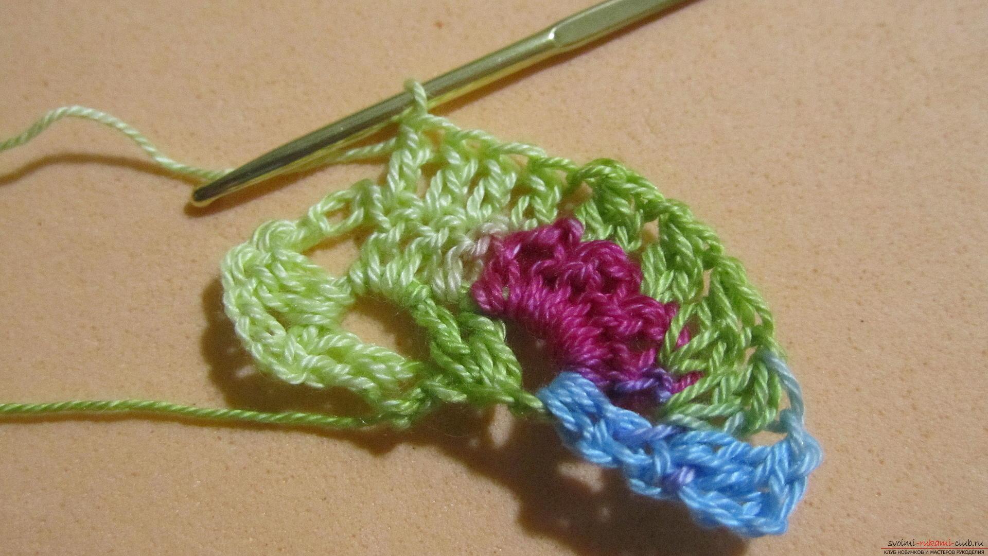 Этот мастер-класс со схемой и описанием вязания крючком научит вязать кружево с сердечками.. Фото №16