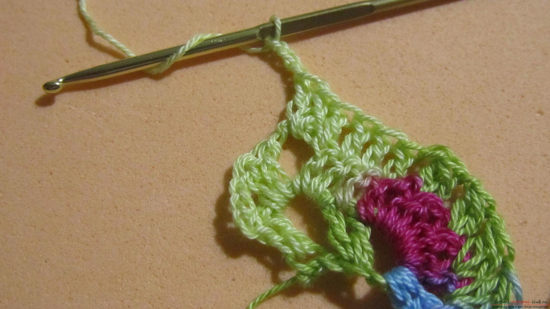 Этот мастер-класс со схемой и описанием вязания крючком научит вязать кружево с сердечками.. Фото №17