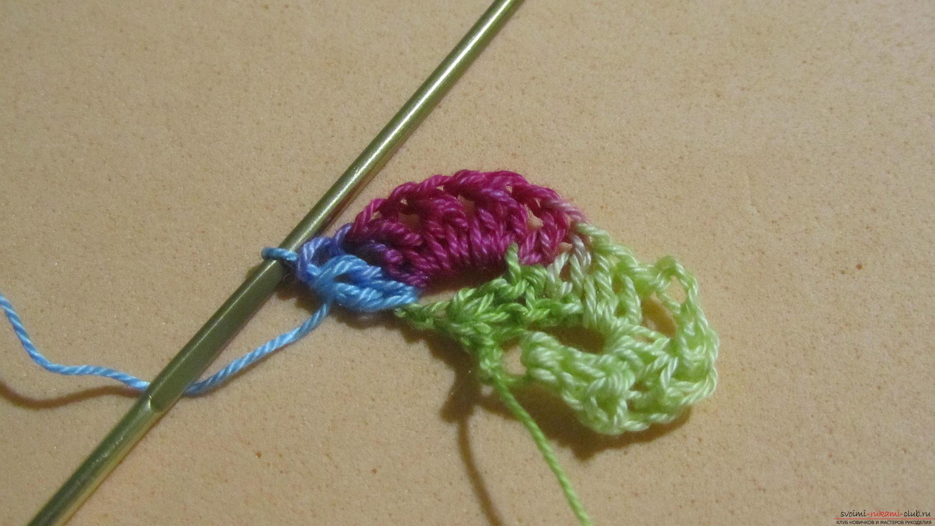 Этот мастер-класс со схемой и описанием вязания крючком научит вязать кружево с сердечками.. Фото №13