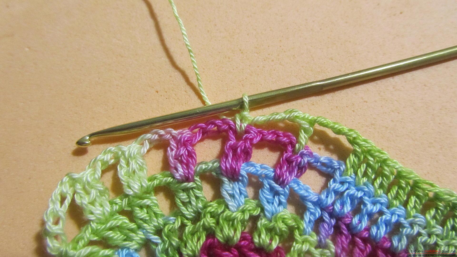 Этот мастер-класс со схемой и описанием вязания крючком научит вязать кружево с сердечками.. Фото №34