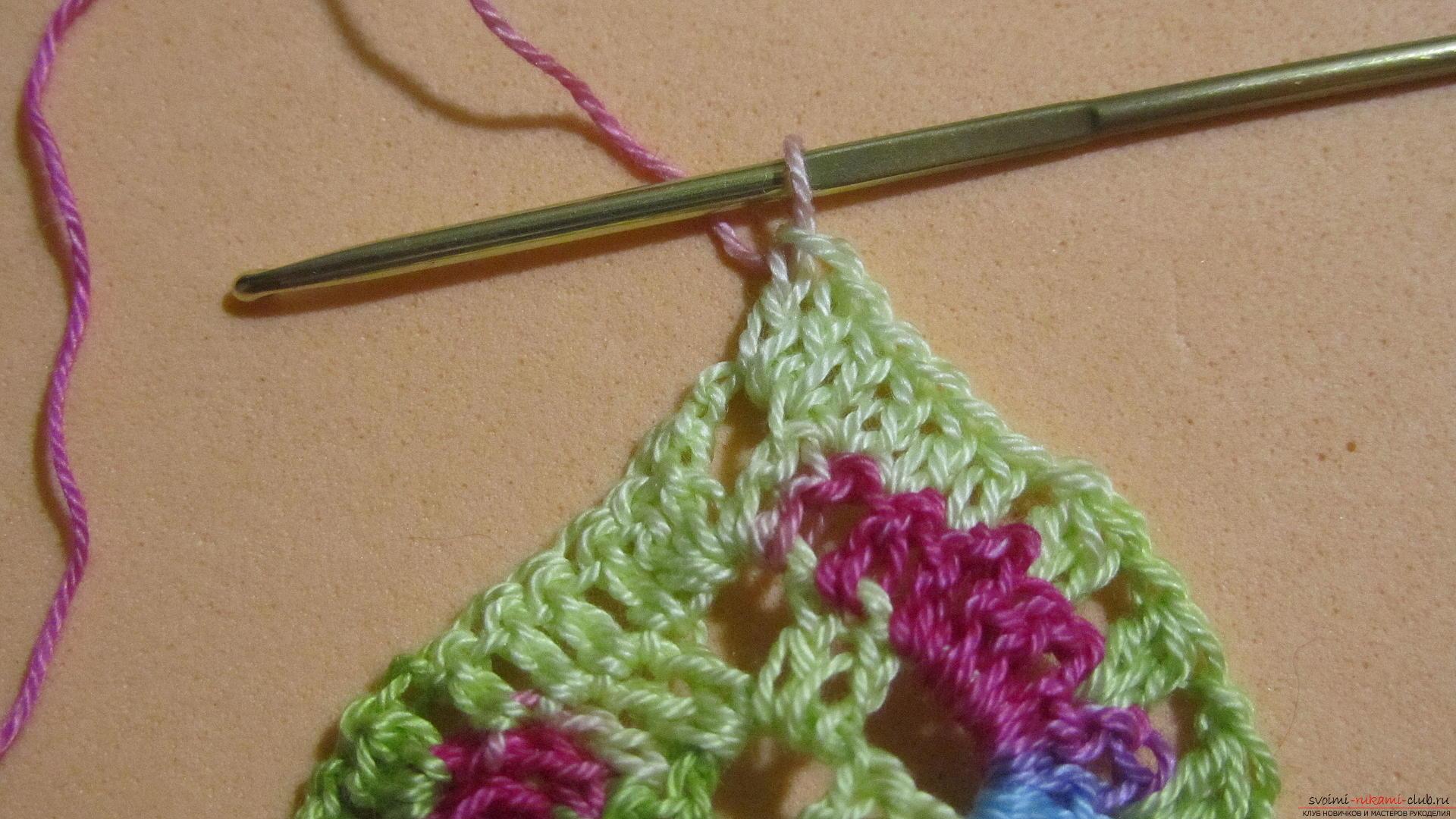 Этот мастер-класс со схемой и описанием вязания крючком научит вязать кружево с сердечками.. Фото №21