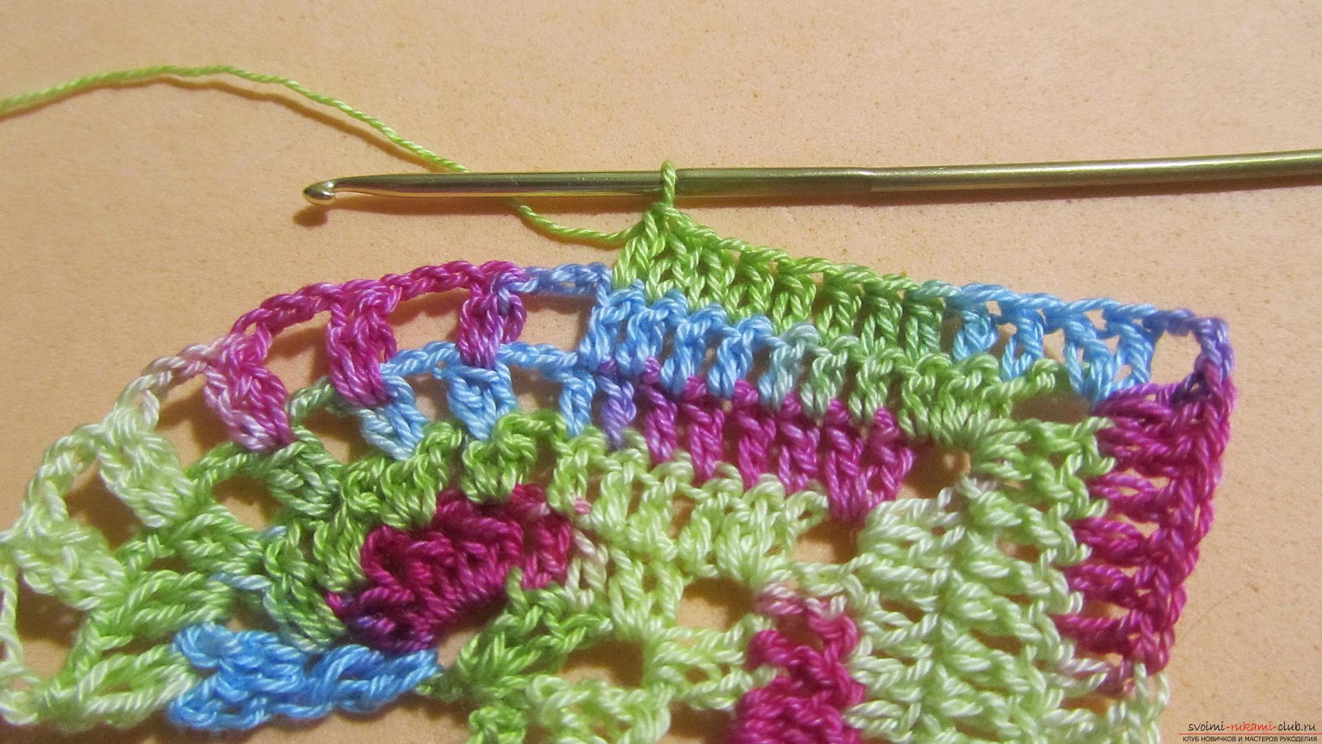Этот мастер-класс со схемой и описанием вязания крючком научит вязать кружево с сердечками.. Фото №32