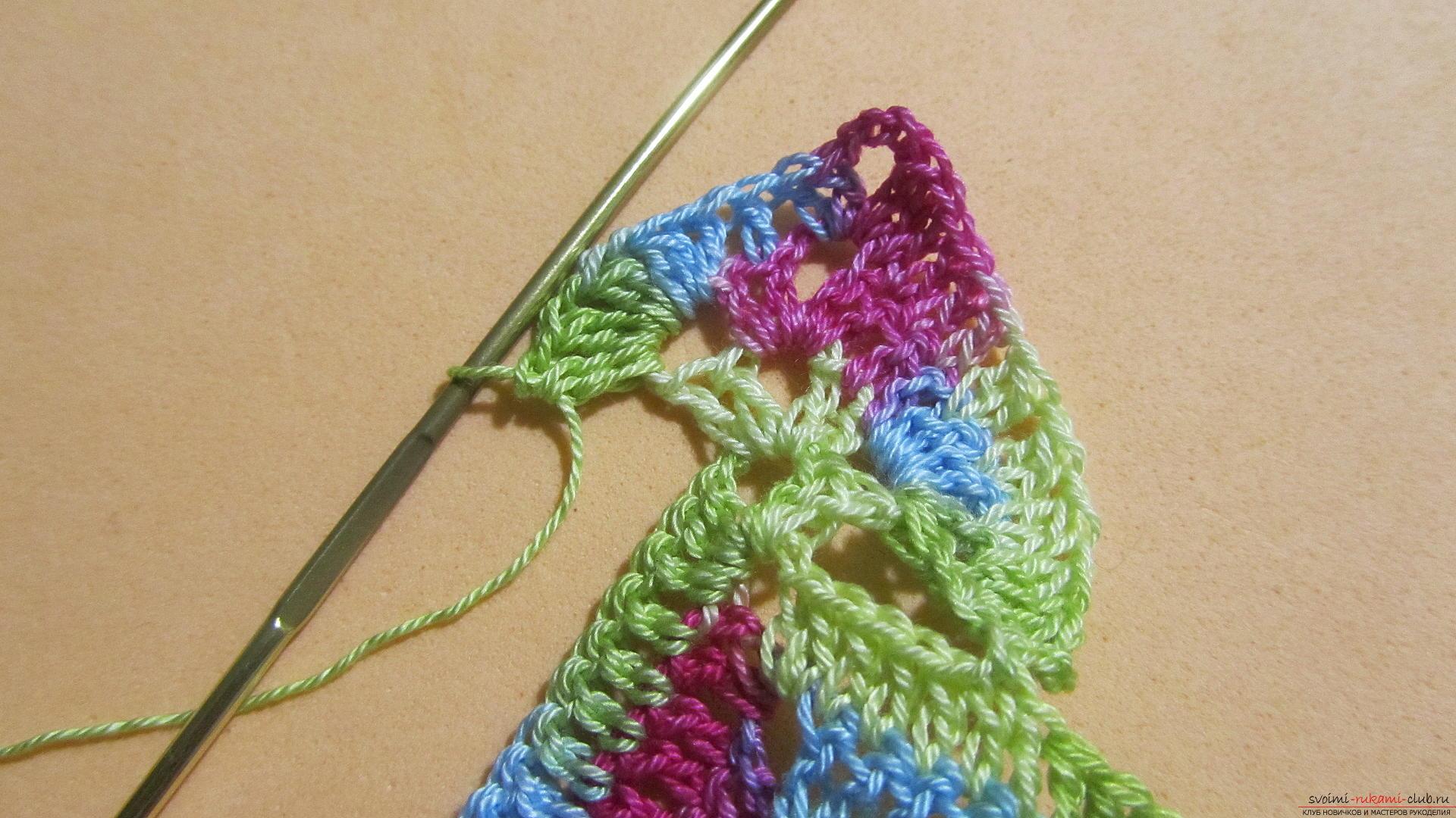 Этот мастер-класс со схемой и описанием вязания крючком научит вязать кружево с сердечками.. Фото №48