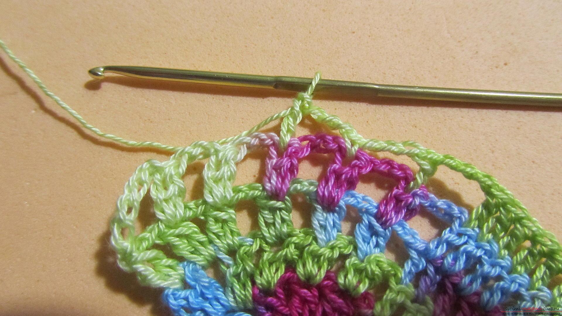 Этот мастер-класс со схемой и описанием вязания крючком научит вязать кружево с сердечками.. Фото №35