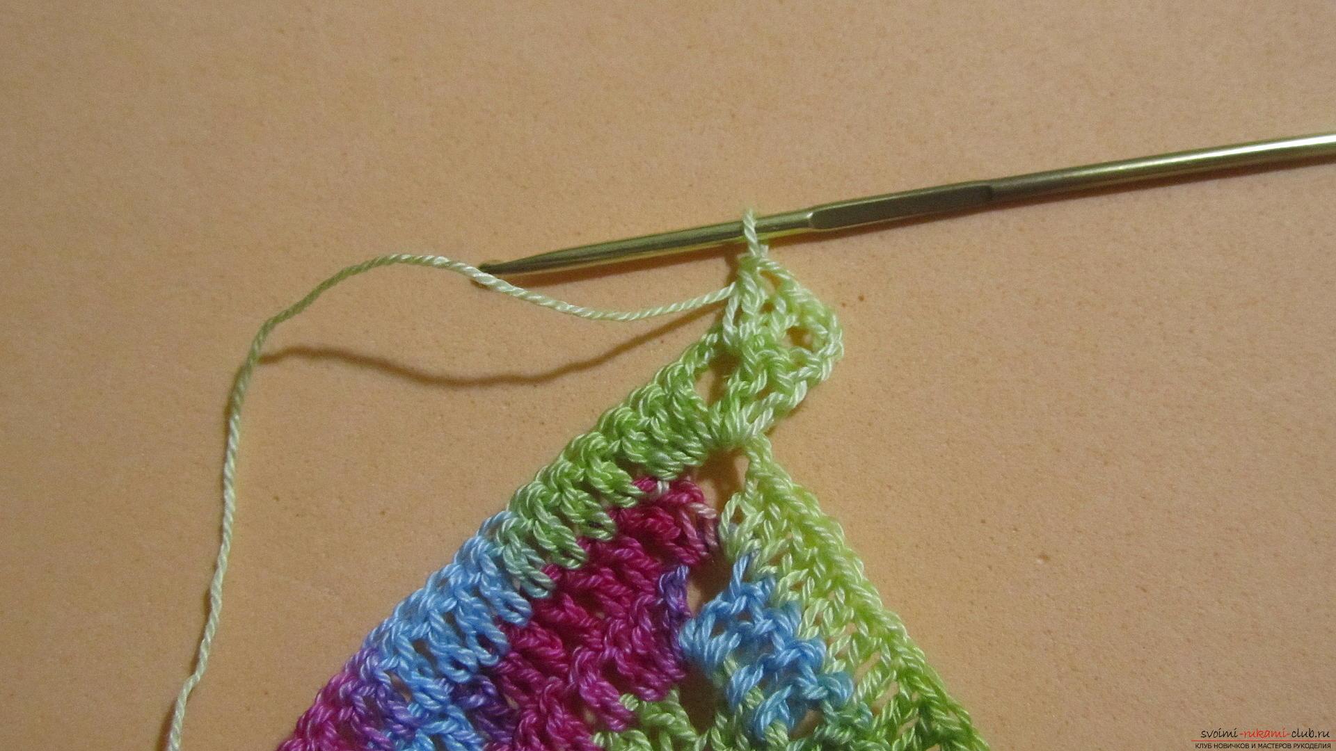 Этот мастер-класс со схемой и описанием вязания крючком научит вязать кружево с сердечками.. Фото №44