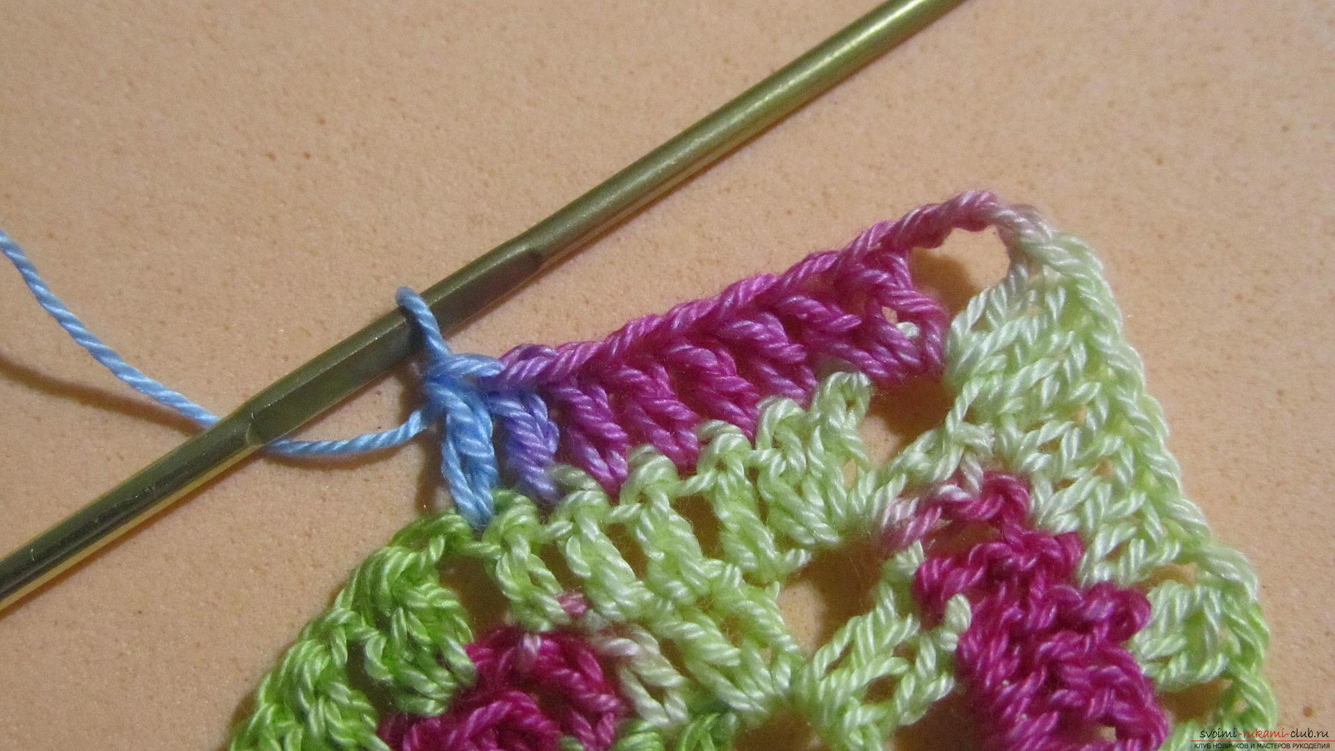 Этот мастер-класс со схемой и описанием вязания крючком научит вязать кружево с сердечками.. Фото №22