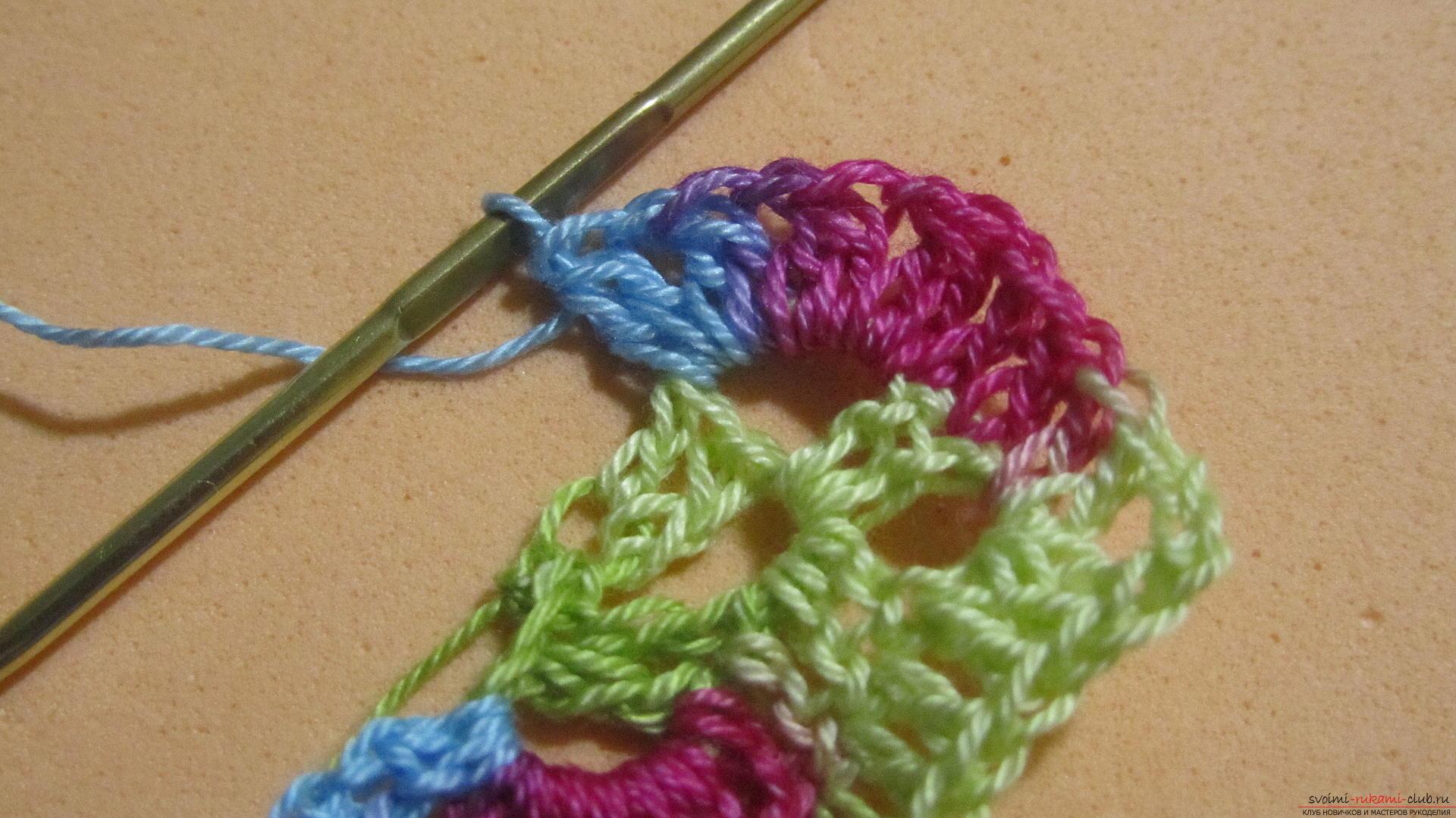 Этот мастер-класс со схемой и описанием вязания крючком научит вязать кружево с сердечками.. Фото №19