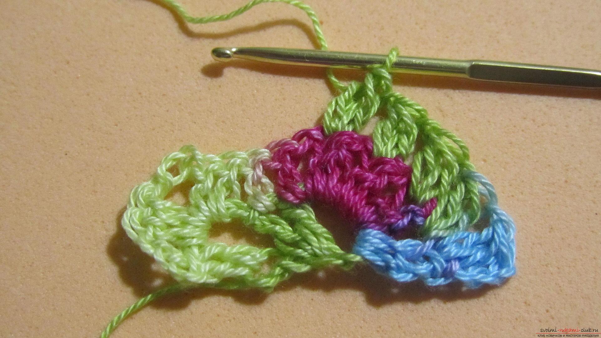 Этот мастер-класс со схемой и описанием вязания крючком научит вязать кружево с сердечками.. Фото №15