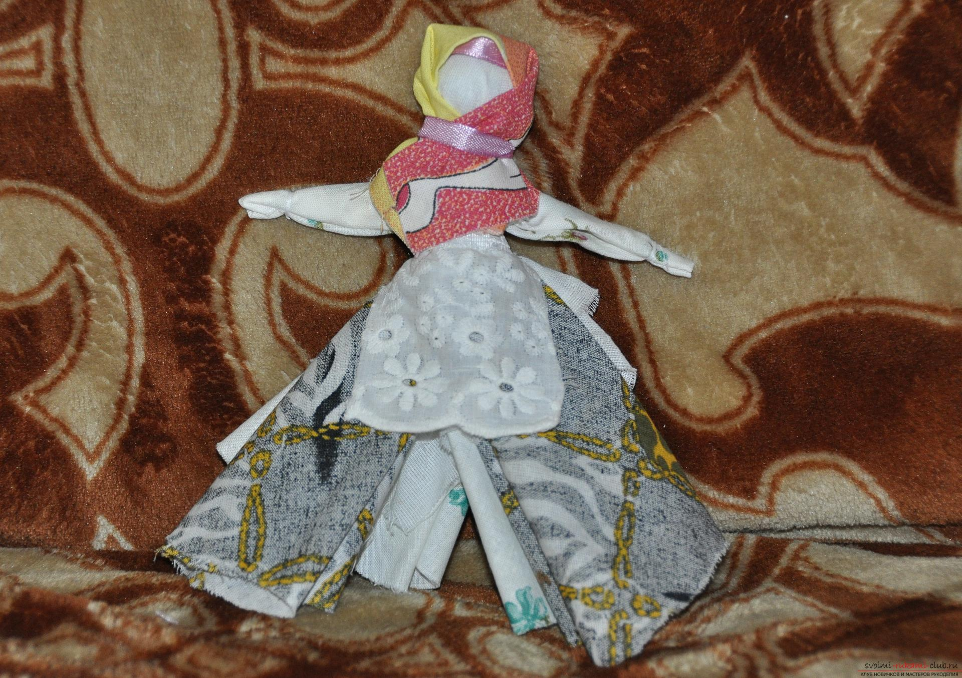 Этот мастер-класс научит как изготовить своими руками куклу-берегиню - столбушку. Фото №1
