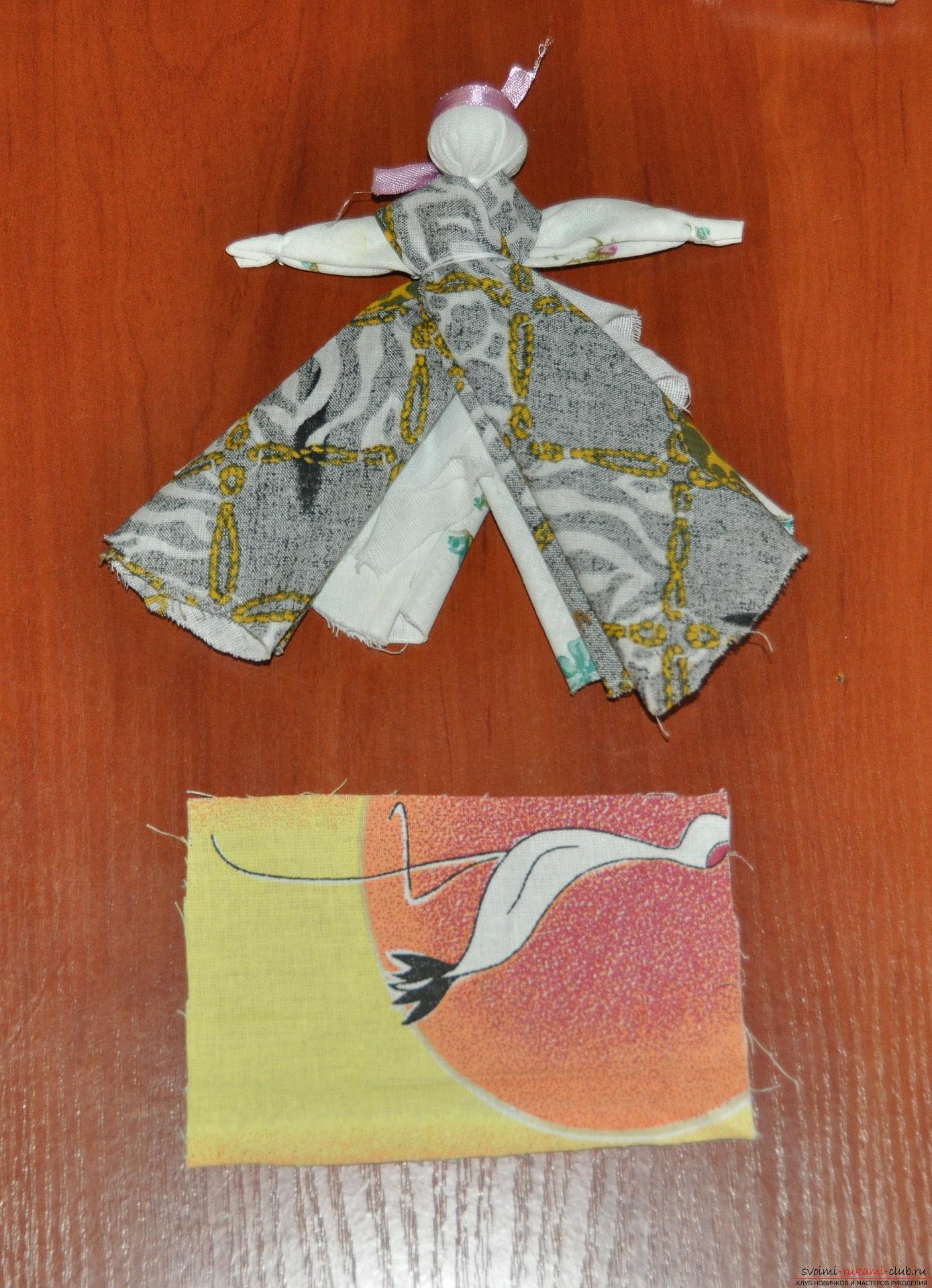 Этот мастер-класс научит как изготовить своими руками куклу-берегиню - столбушку. Фото №21