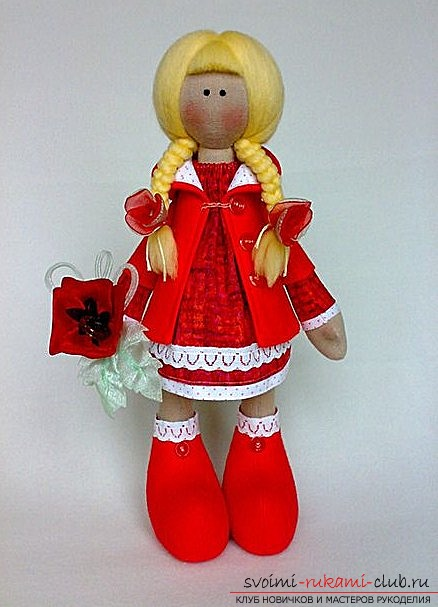 Как сшить авторскую куколку Коннэ Снежку. Фото №1